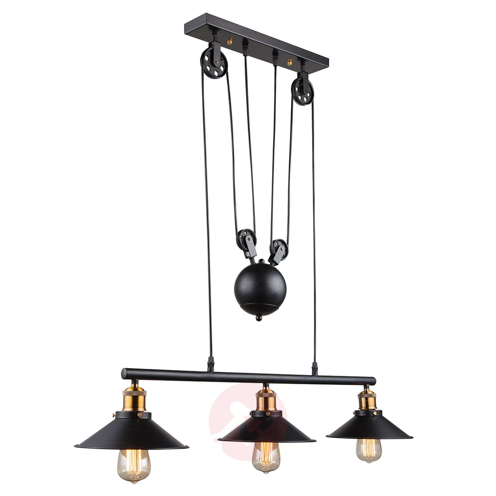 Height Adjustable Led Pendant Light Drop: 3-bulb Pendant Light Viktor - Height-adjustable