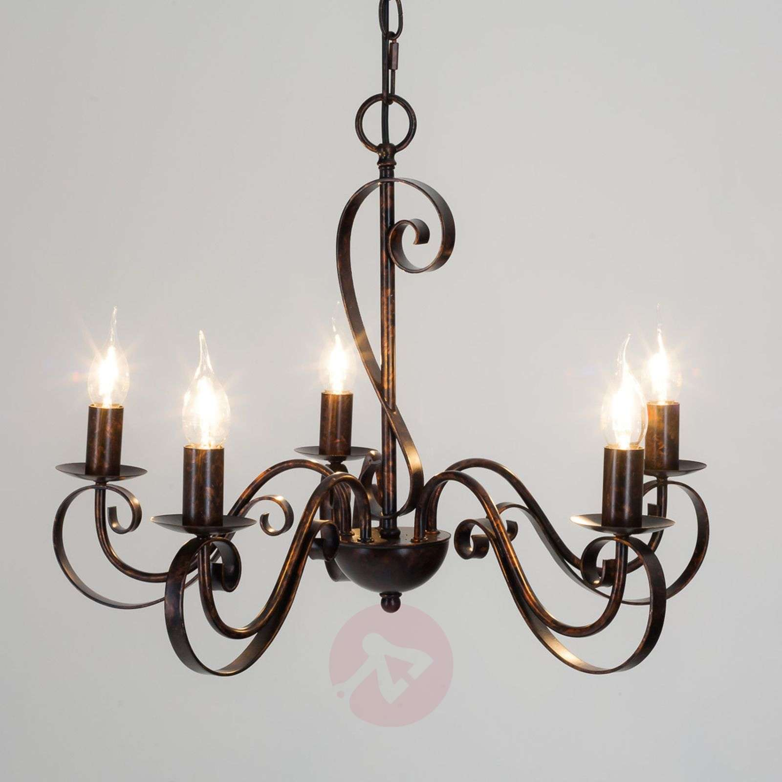 5 light rust coloured chandelier caleb lights 5 light rust coloured chandelier caleb 9620530 01 aloadofball Images