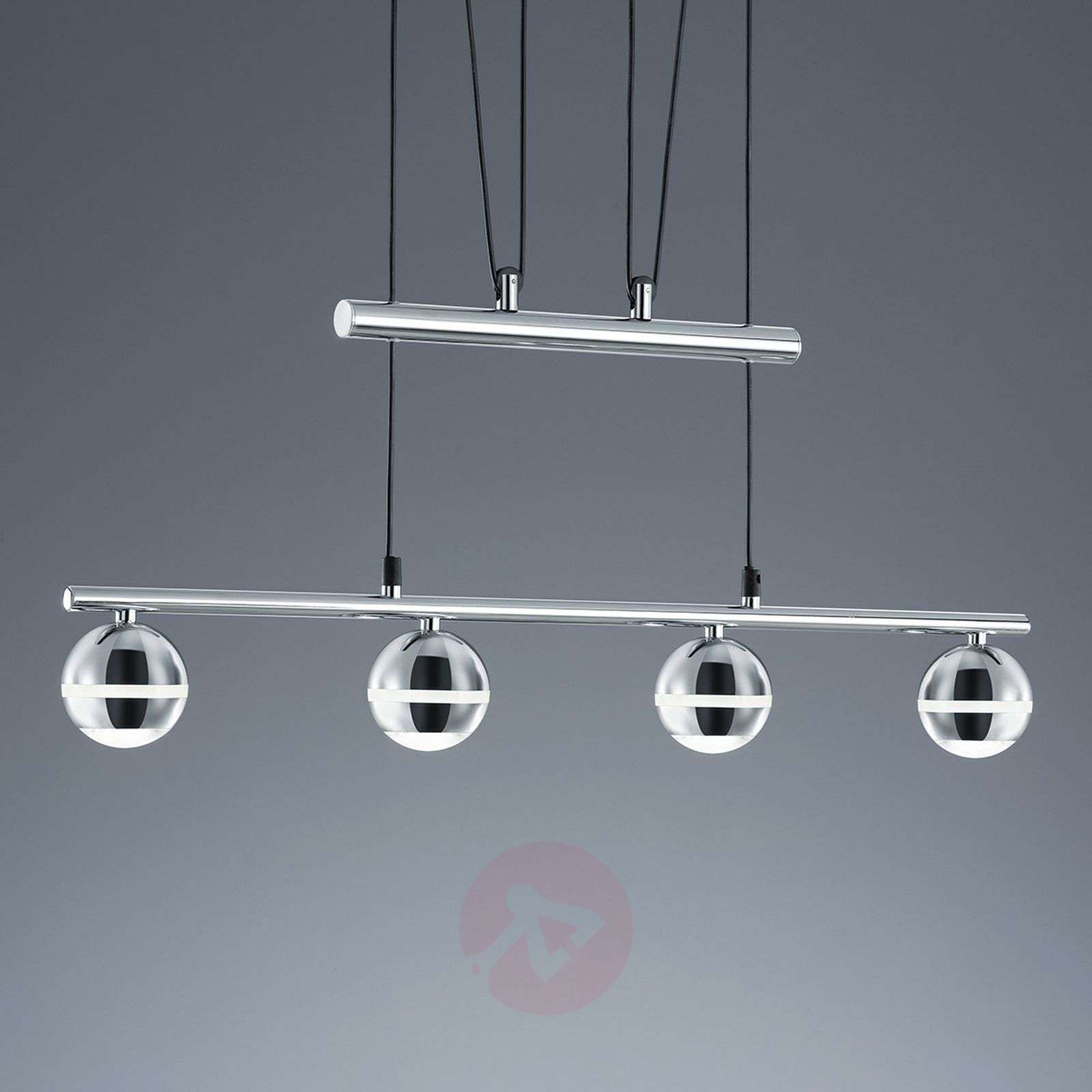 Height Adjustable Led Pendant Light Drop: Ada LED Pendant Light, Height-adjustable, 4 Bulbs
