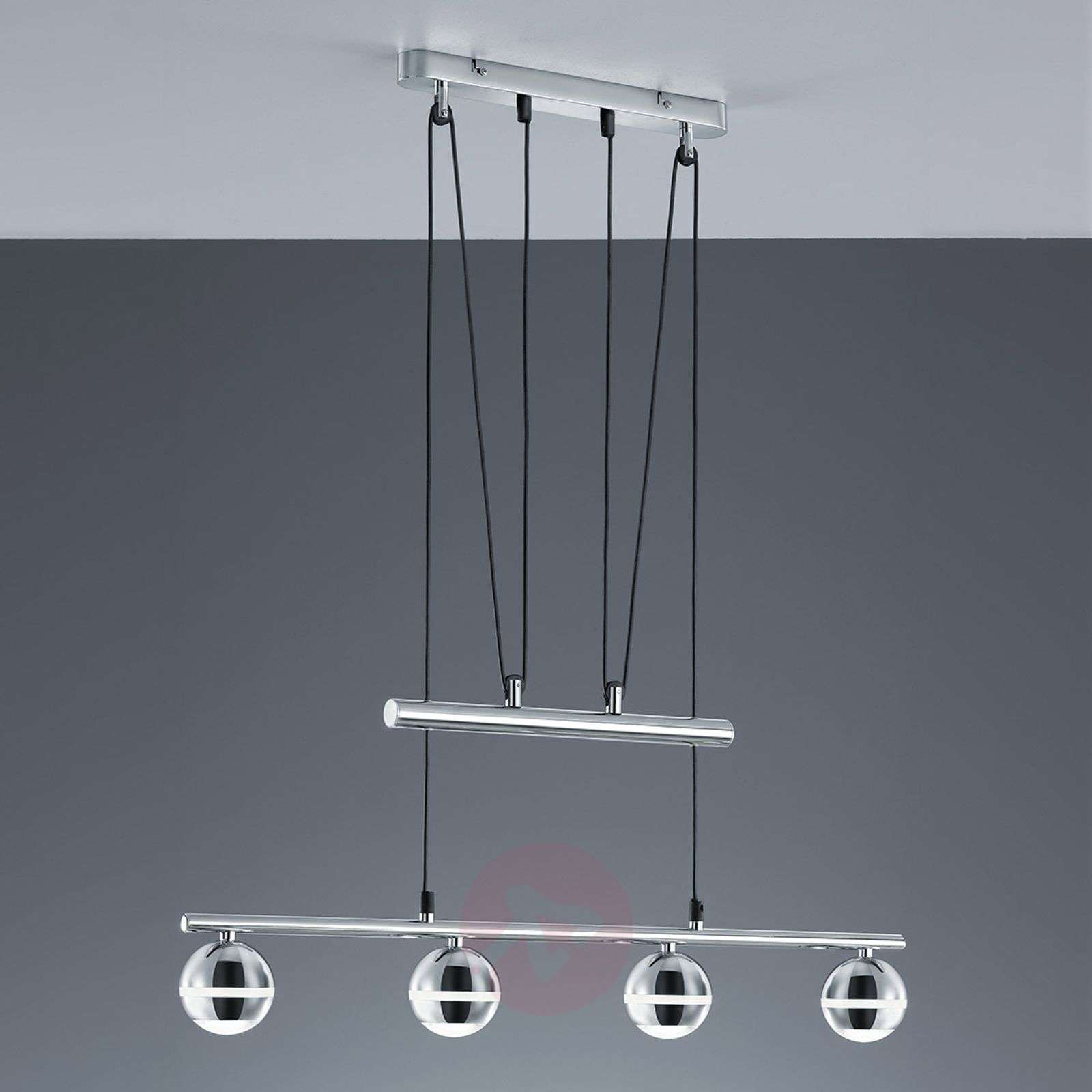 Ada led pendant light height adjustable 4 bulbs