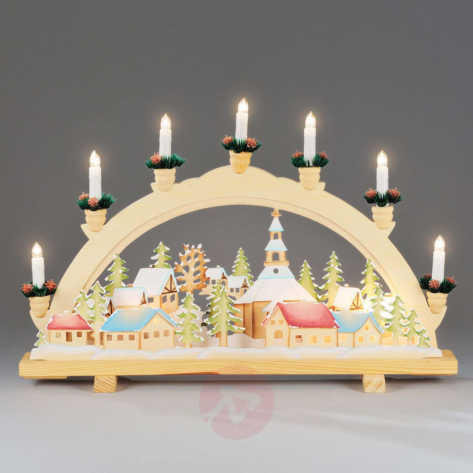 advent candle arch christmas village 57 cm. Black Bedroom Furniture Sets. Home Design Ideas