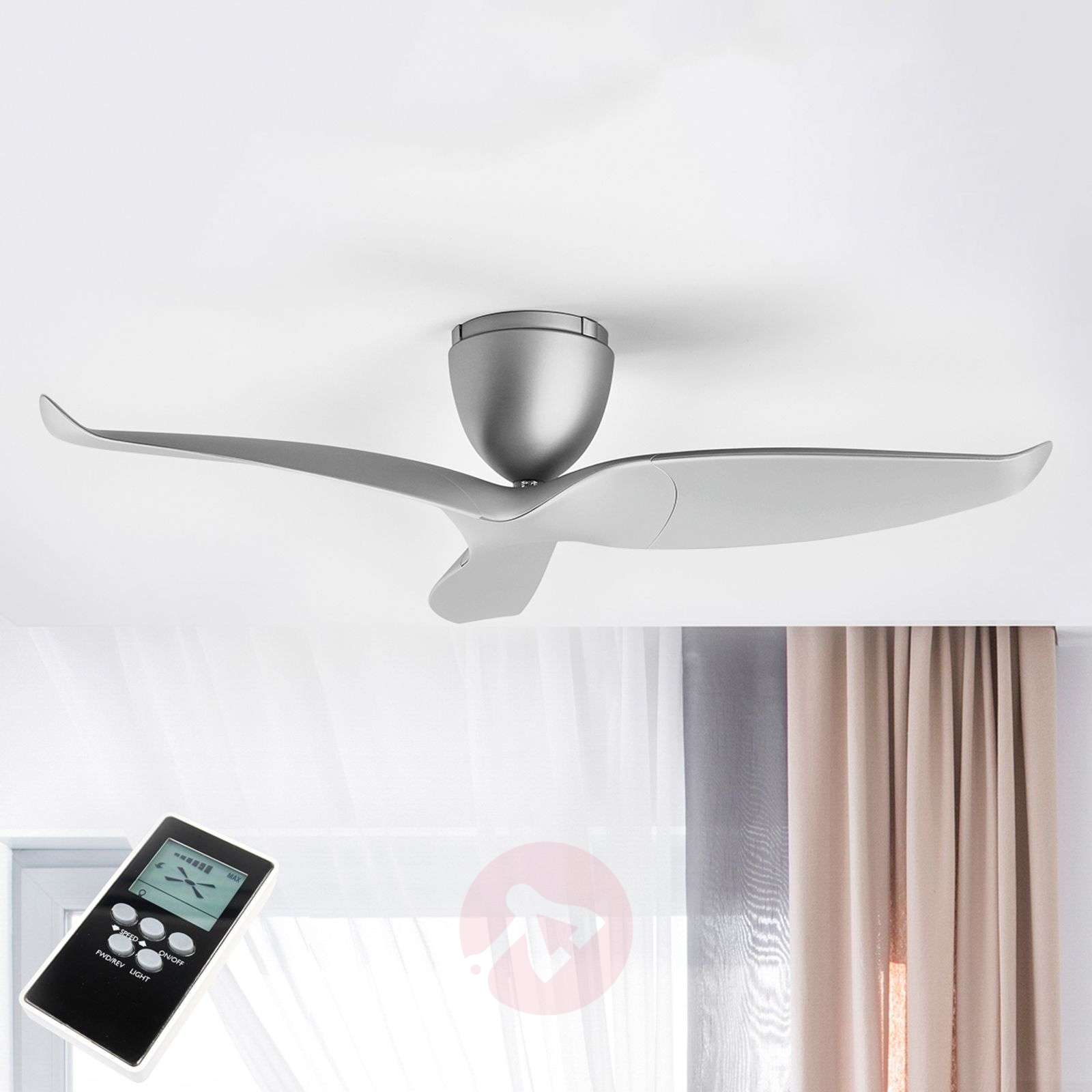 High Quality Ceiling Fan With Remote Control Special: Aeratron Ceiling Fan, Silver, 109.2 Cm