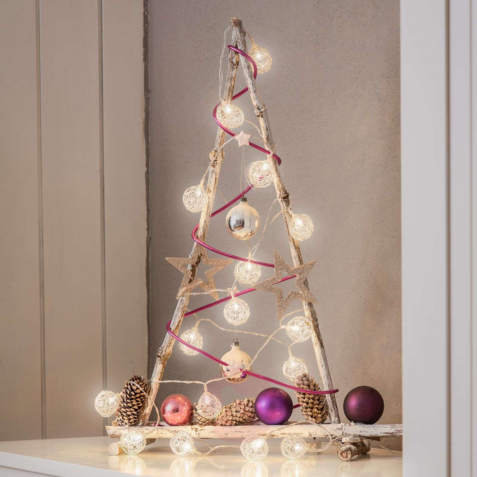 Wire Christmas Tree.Aluminium Wire Ball Led String Lights Battery