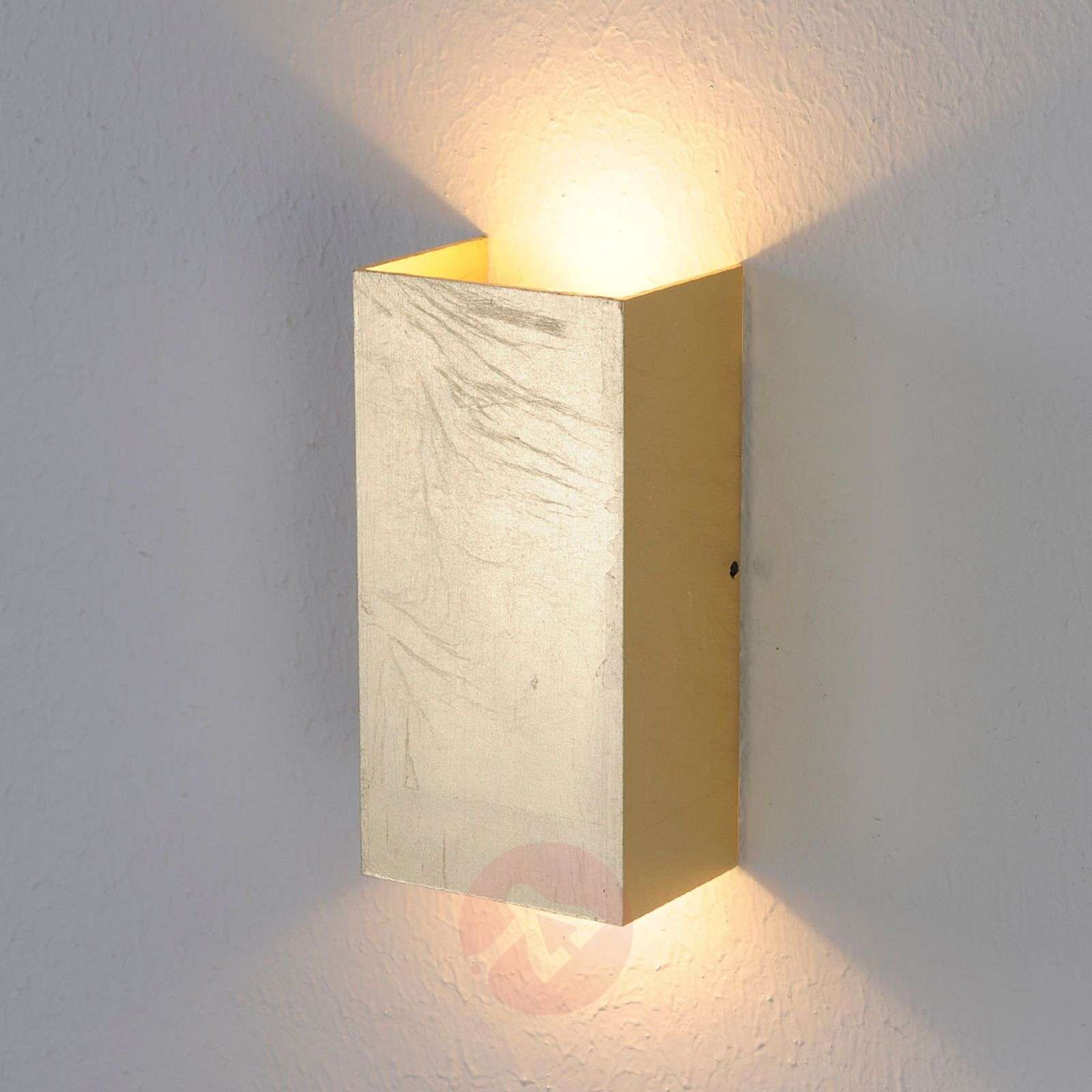 Antique-gold coloured Mira LED wall light Lights.co.uk