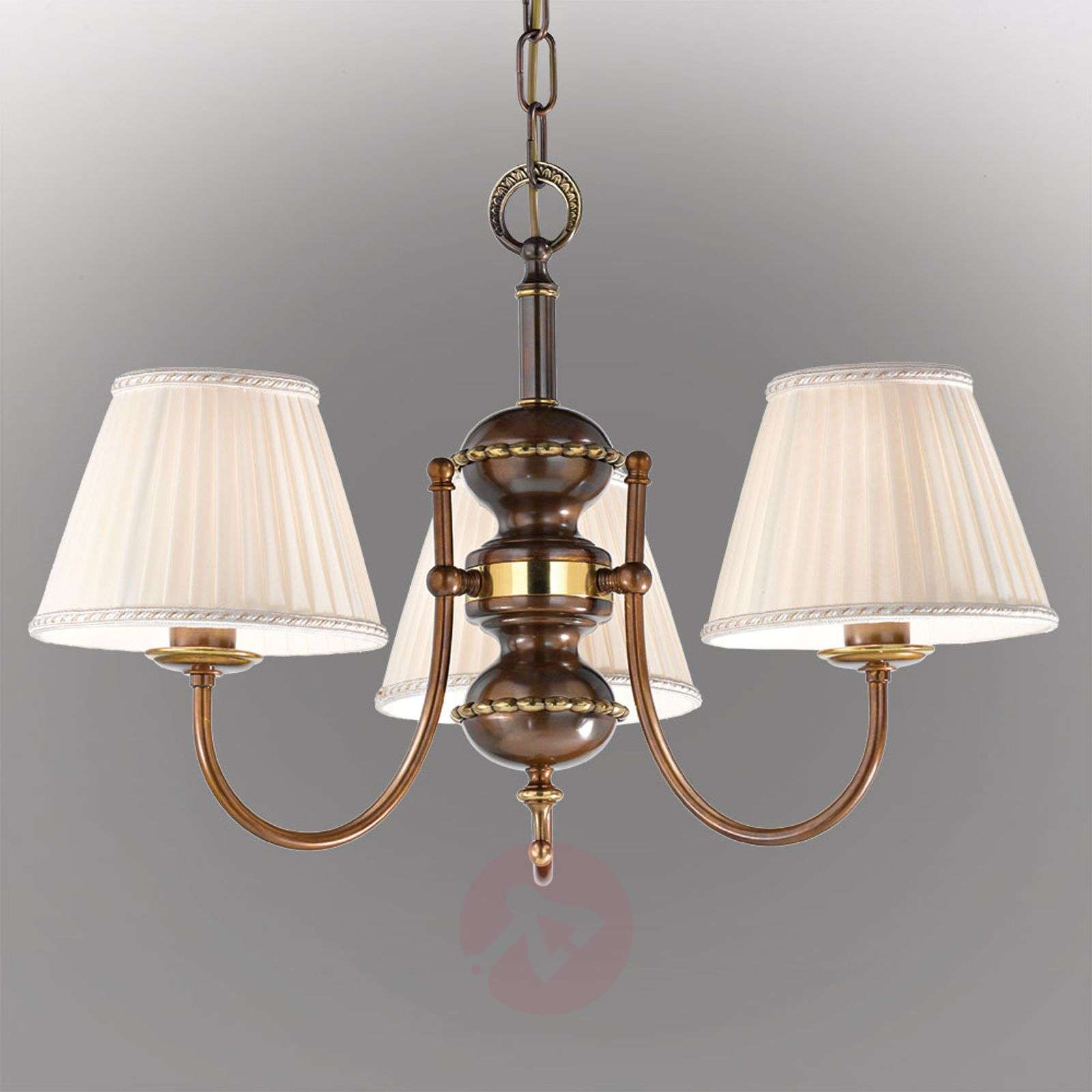 Antique-looking Classic Hanging Light, Three-bulb