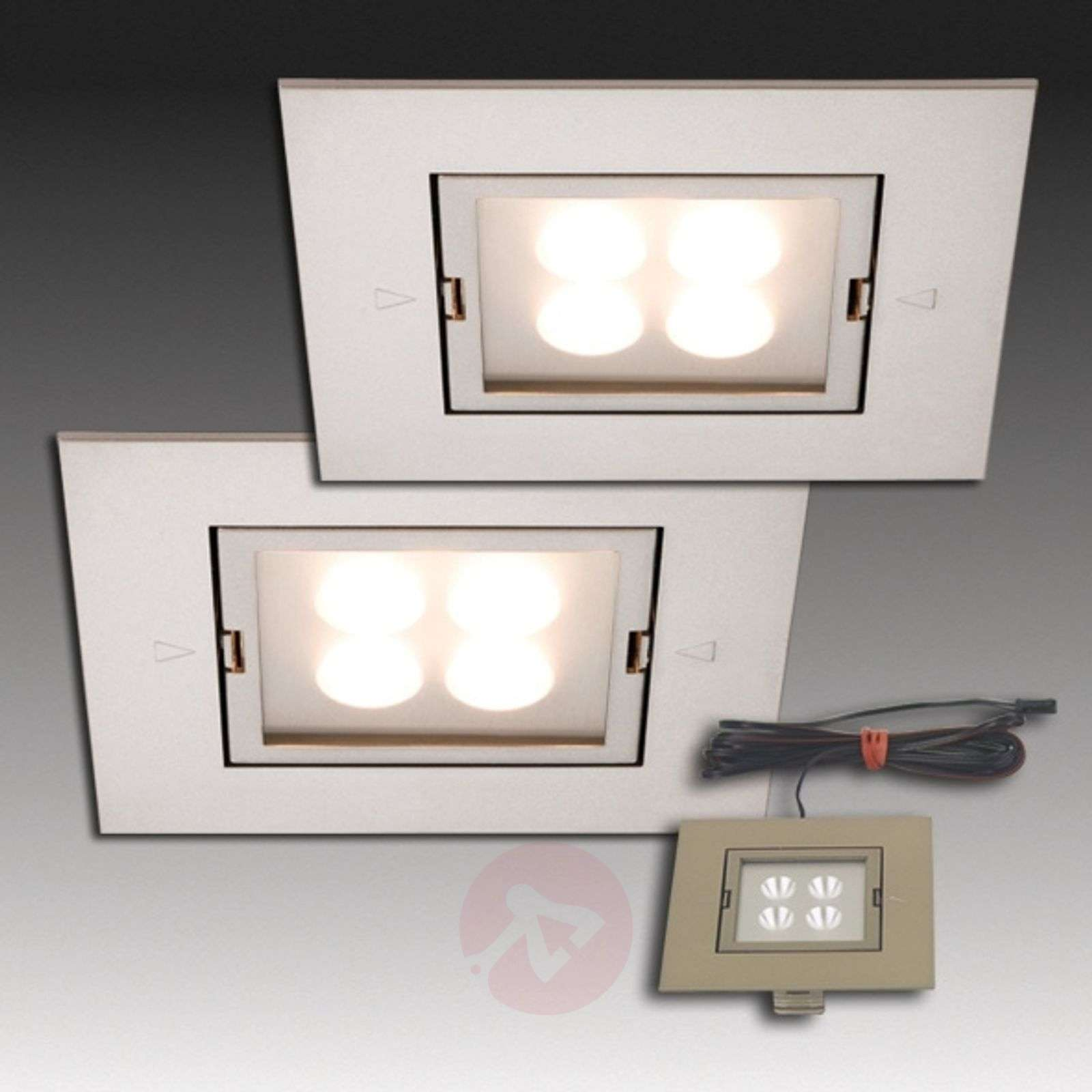 ... ARF-Q LED recessed light set of 2 stainless steel-4514070-01 ... & ARF-Q LED recessed light set of 2 stainless steel | Lights.co.uk azcodes.com