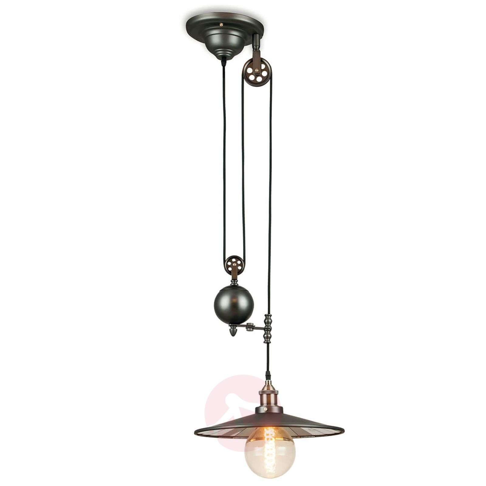 with chain products suspension satin black gloss inside vintage industrial lightworksonline pendant silver light