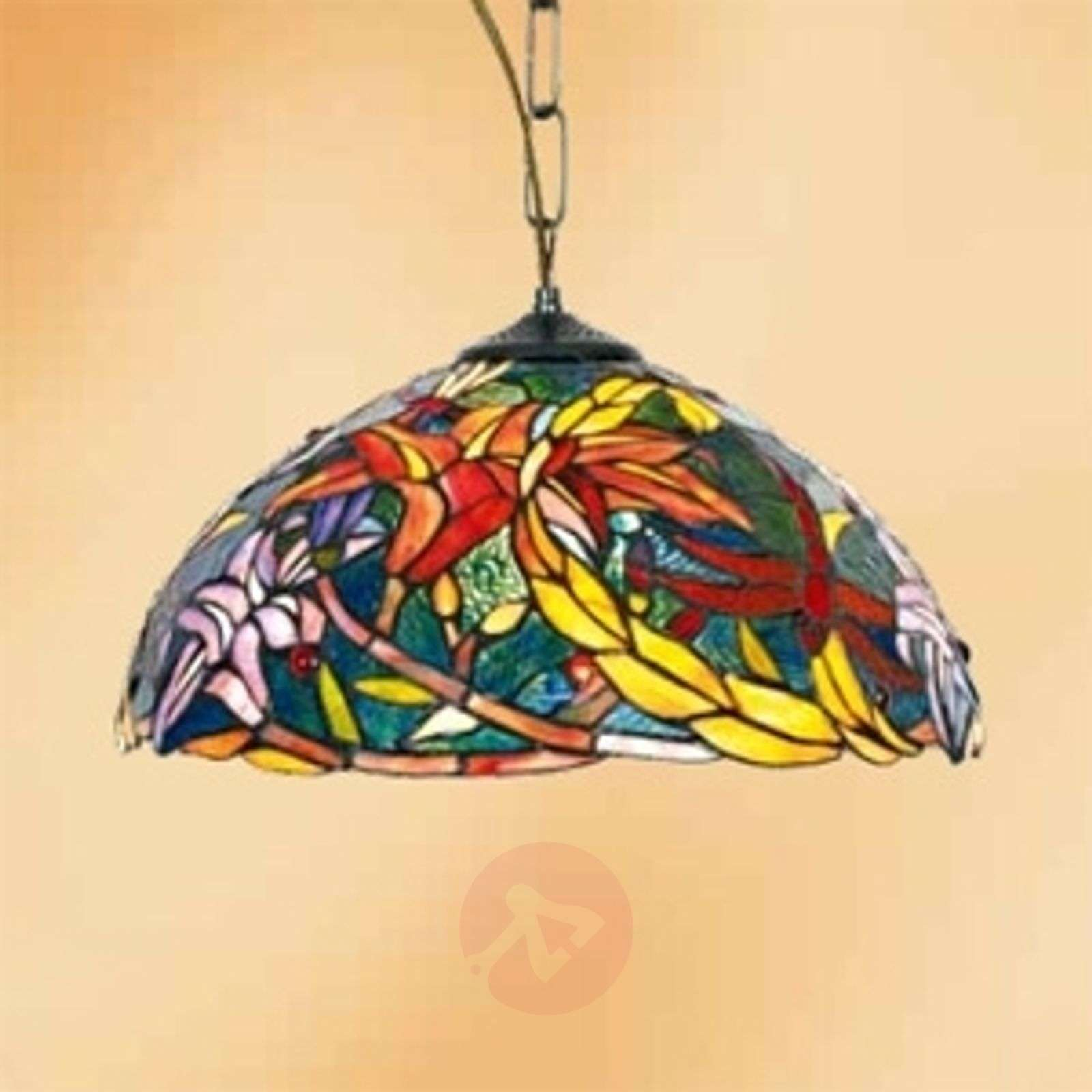 Autumn-inspired hanging light Miley, Tiffany style-1032271-01
