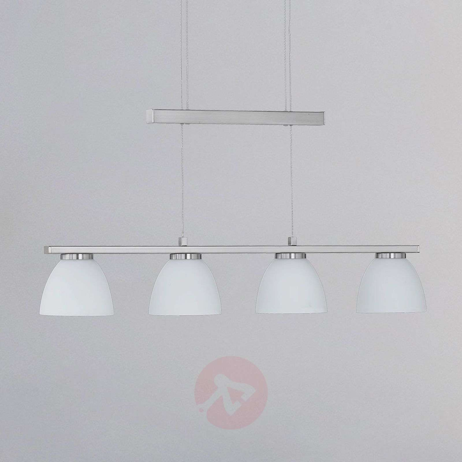 ava dimmable led hanging light with 4 bulbs lights co uk