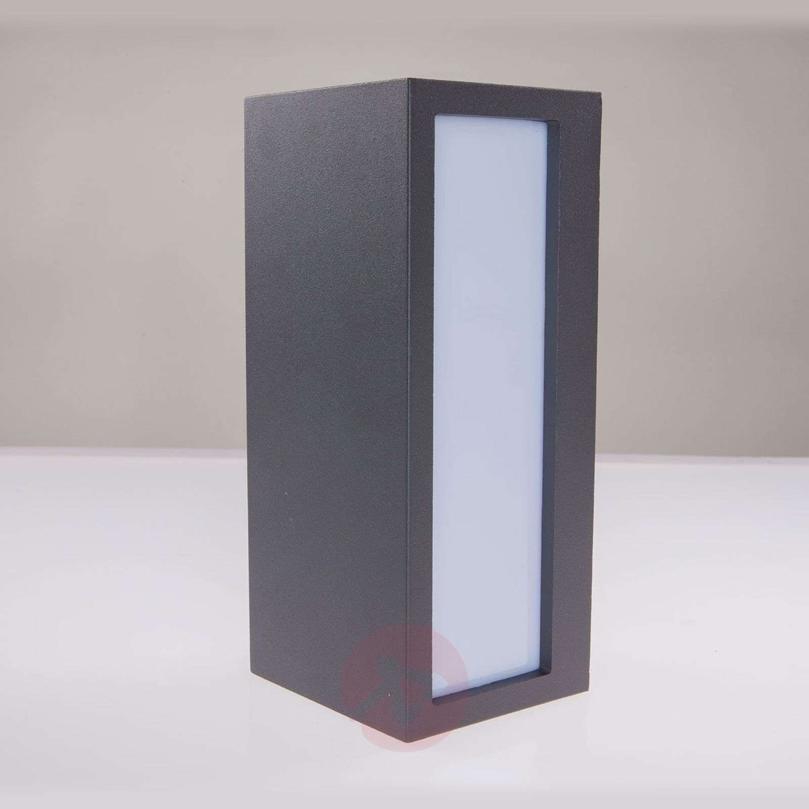 Wall Light Switch Remote Control : Bente - rectangular outdoor wall light, graphite Lights.co.uk