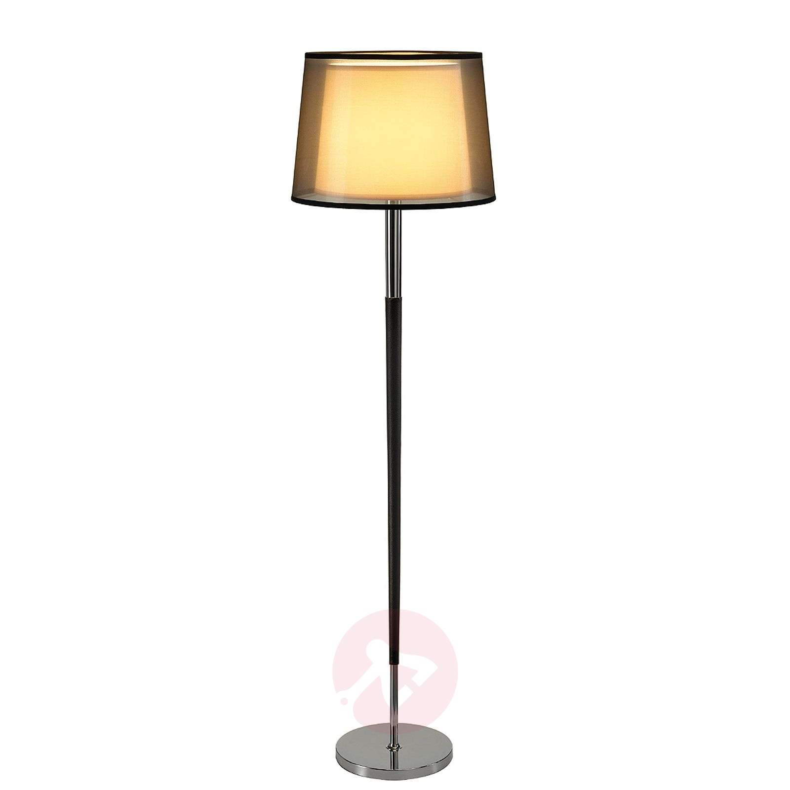 Bishade floor lamp with see through shade for 12 volt floor lamps