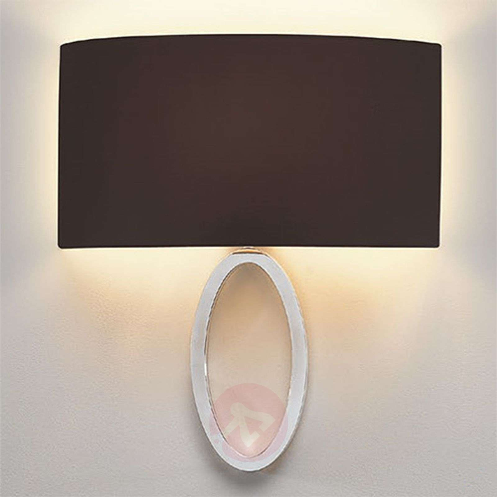 Black fabric wall light Lima-1020519-01
