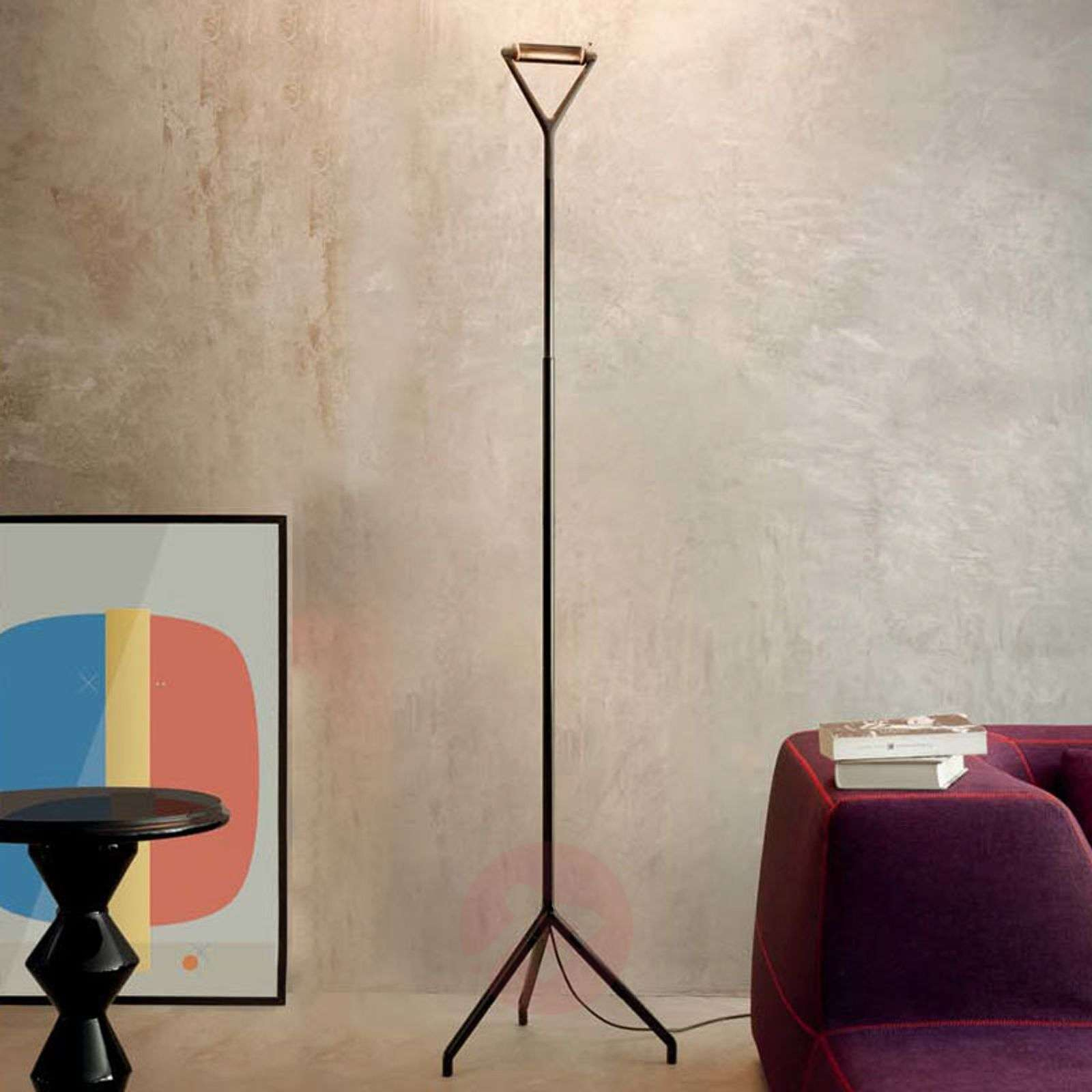 Black floor lamp Lola with dimmer switch | Lights.co.uk