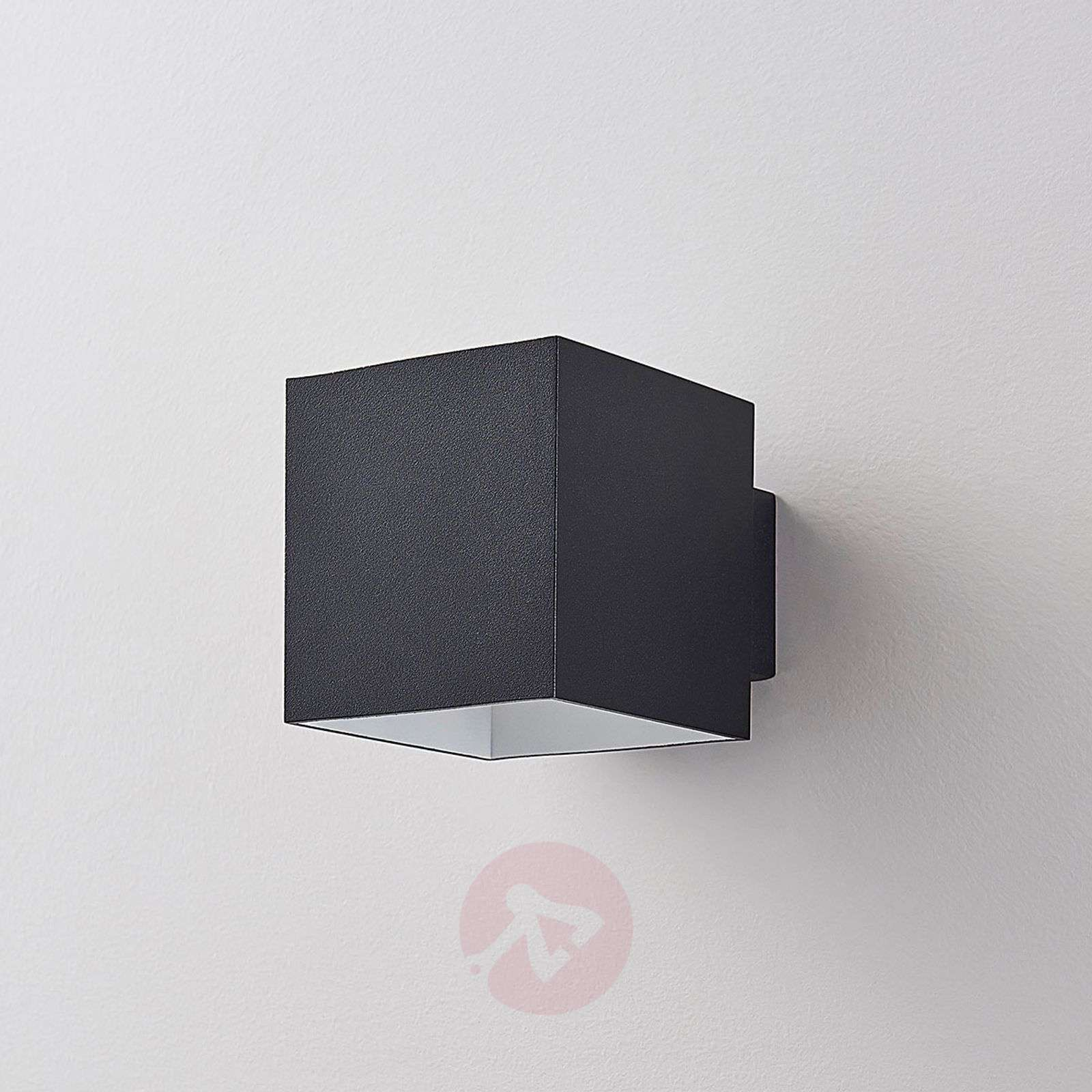 Black led wall lamp rocco cube shaped lights black led wall lamp rocco cube shaped 9621472 01 aloadofball Image collections