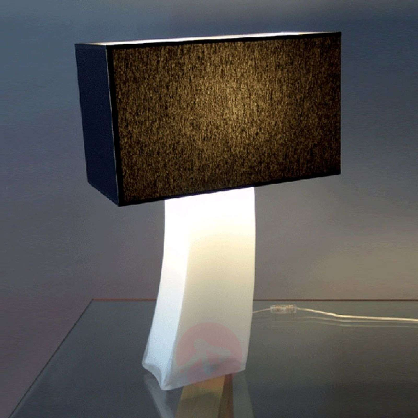 Black table lamp nadine opal lights black table lamp nadine opal 8025031 01 geotapseo Image collections
