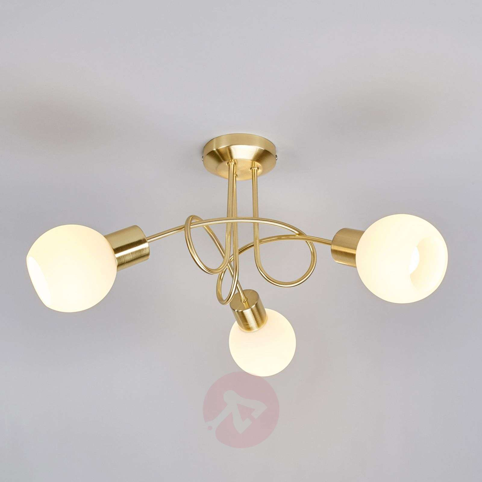 Brass coloured led ceiling light elaina 3 bulb lights brass coloured led ceiling light elaina 3 bulb 9620030 01 aloadofball Image collections