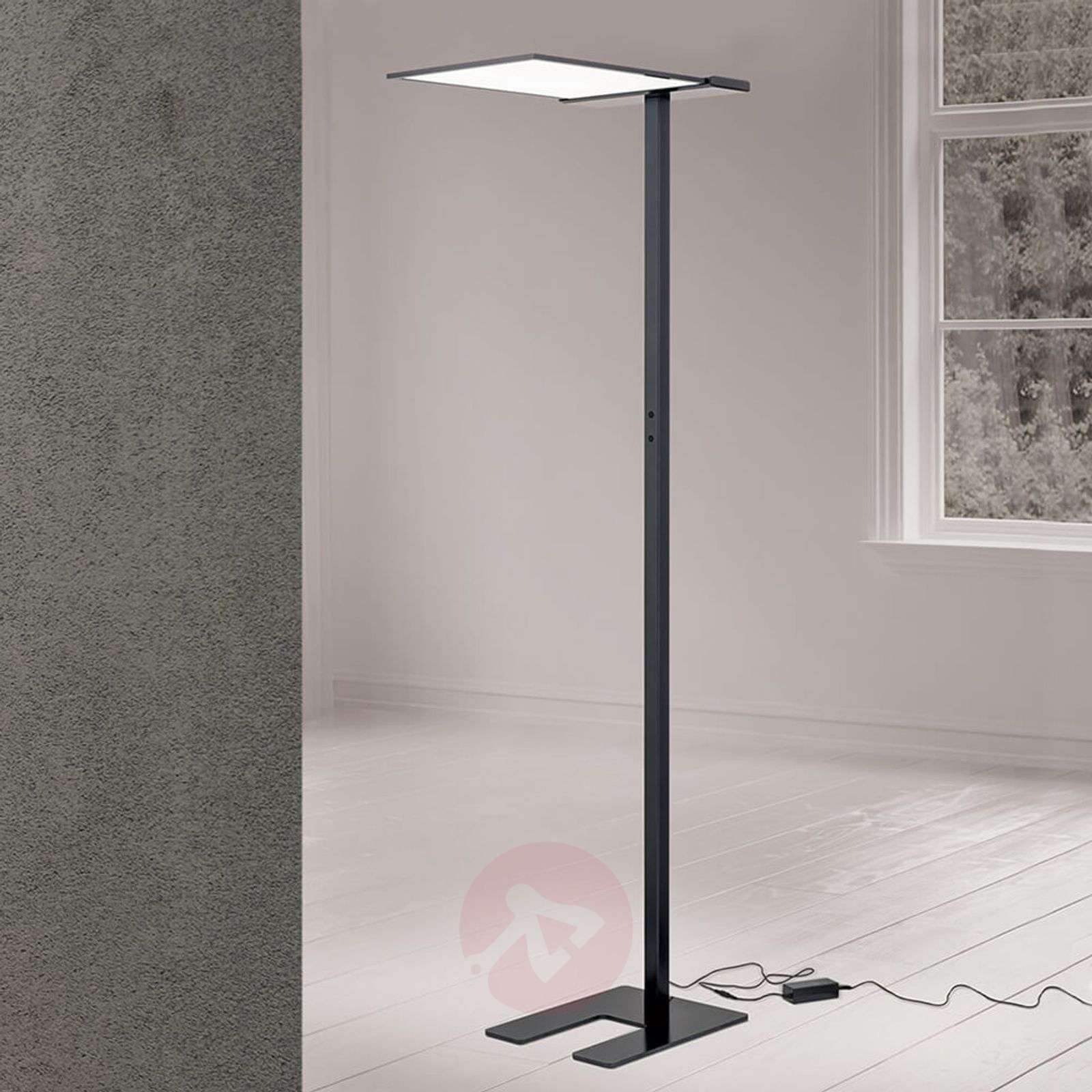 Bright LED Office Floor Lamp Primo, 4 Level Dimmer | Lights.co.uk