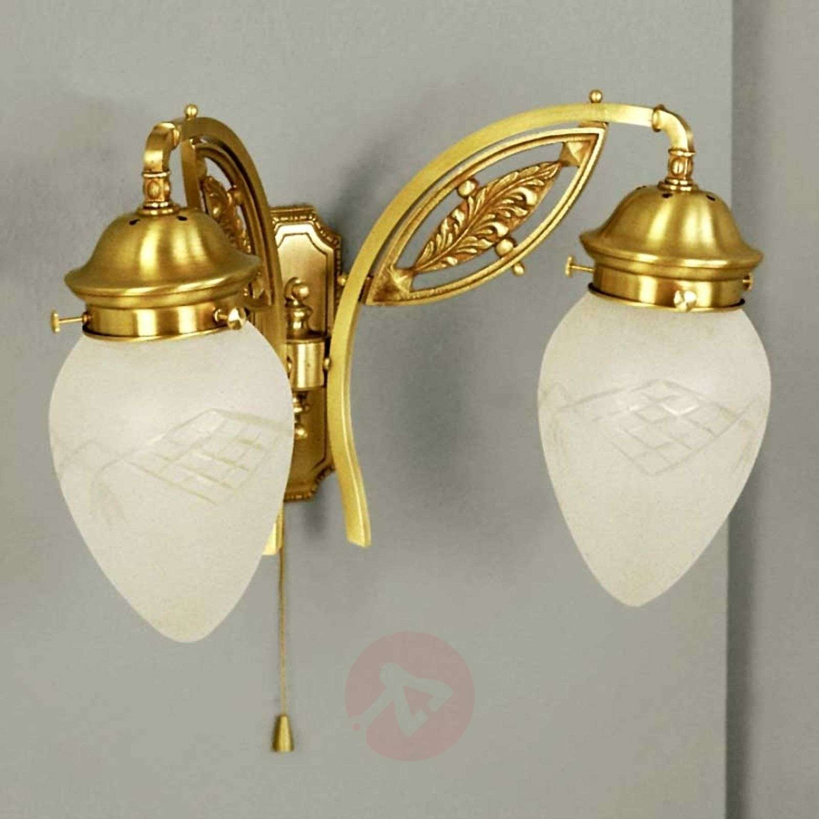 Budapest Wall Light with Pull Switch Bronze Lights.co.uk