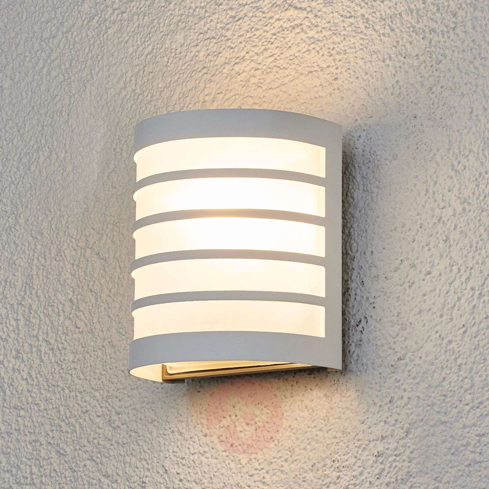white outdoor wall lights outside wall calin white outdoor wall light with striped look996004209 look lightscouk