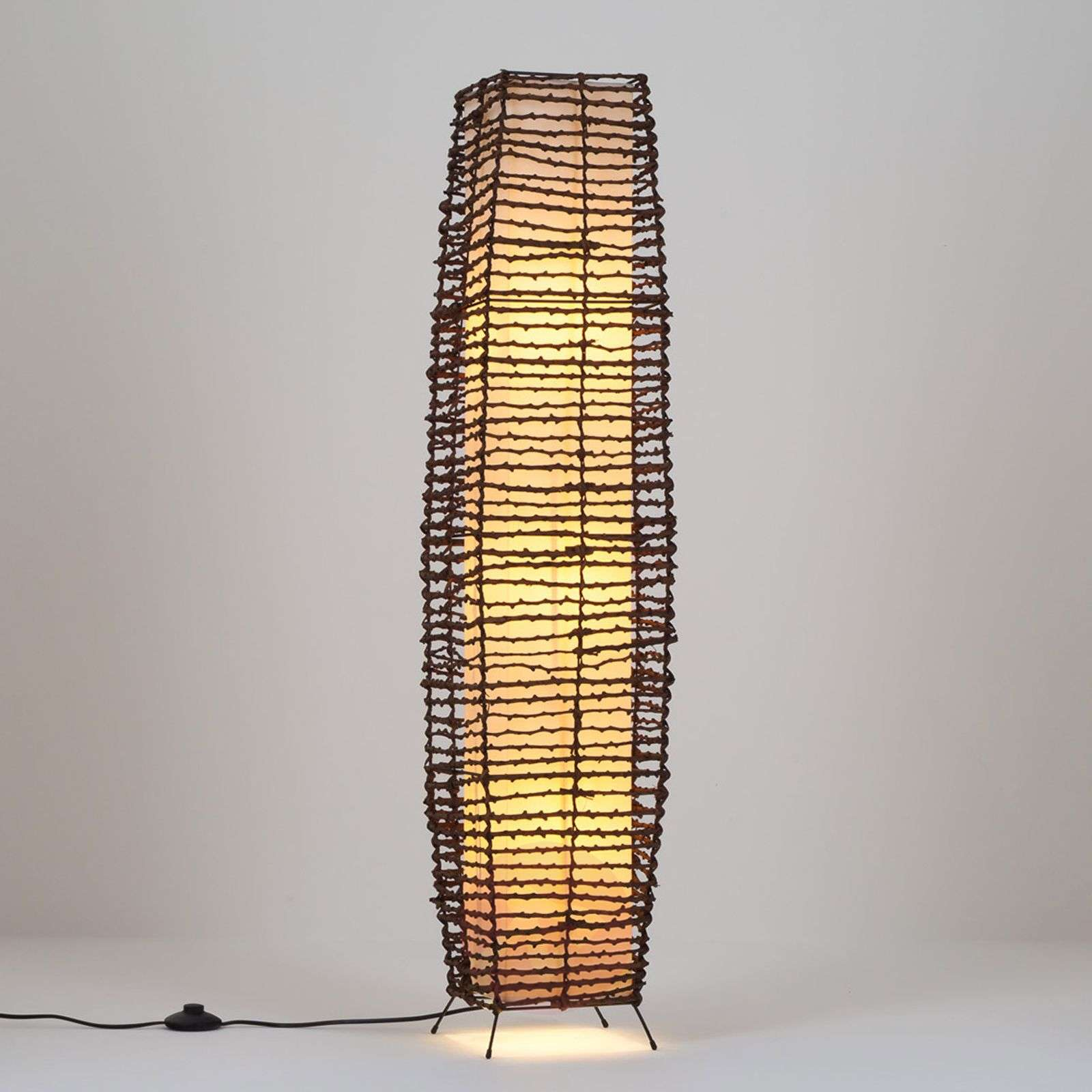 Ceren - Rattan Floor Lamp Beautiful | Lights.co.uk