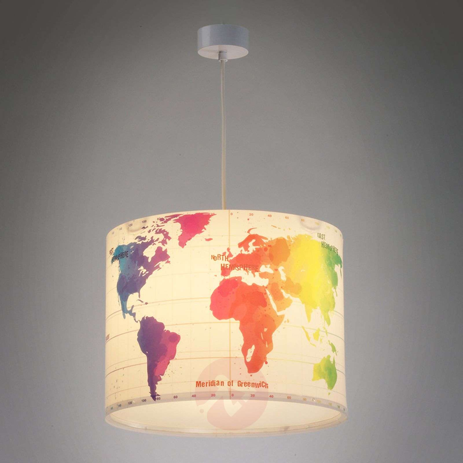 Children 39 s room hanging light map with world map lights for Hanging lights for kids room