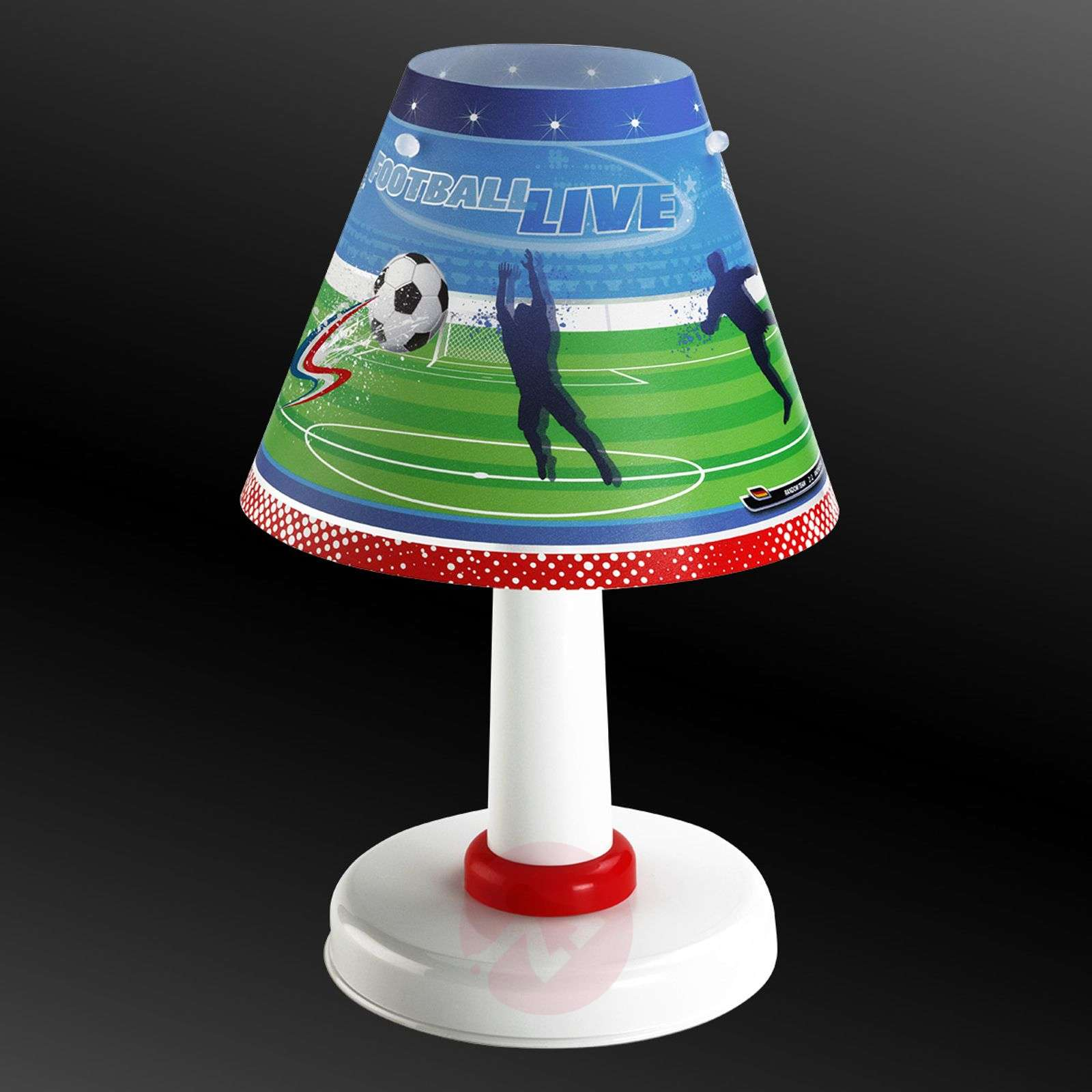 Children's room table lamp Football