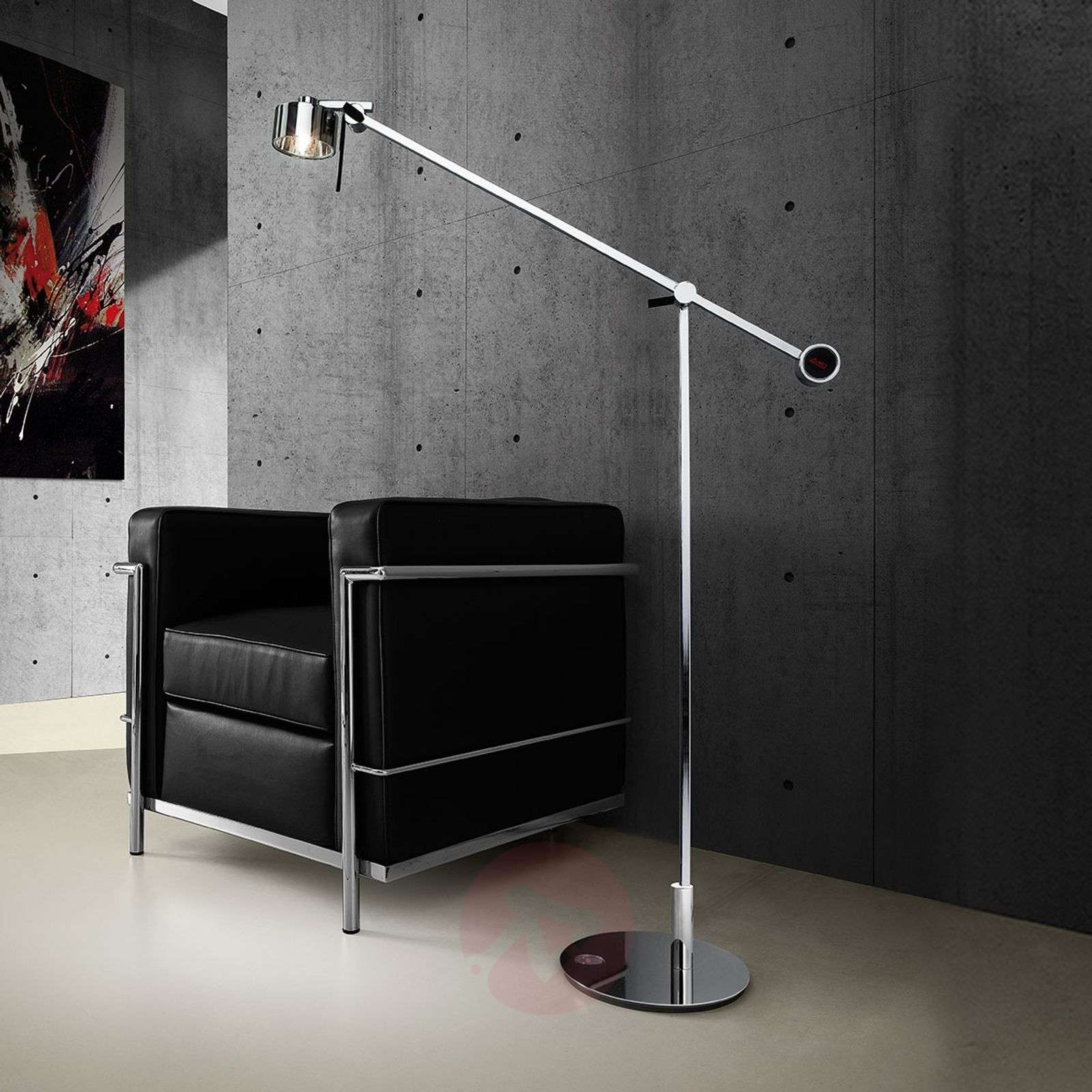 Chrome-plated floor lamp AX20 with dimmer-1088036-01