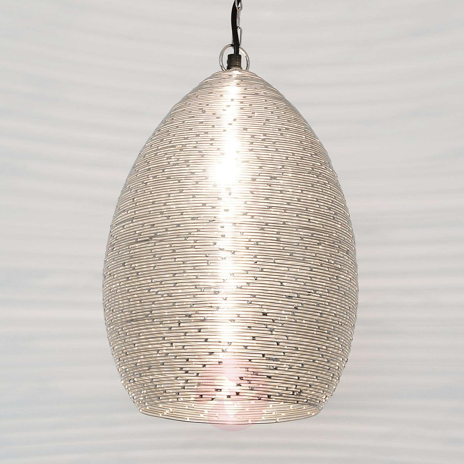 Colibri Pendant Lamp In Nickel Plated Steel Wire Wiring A Uk 4512506 01