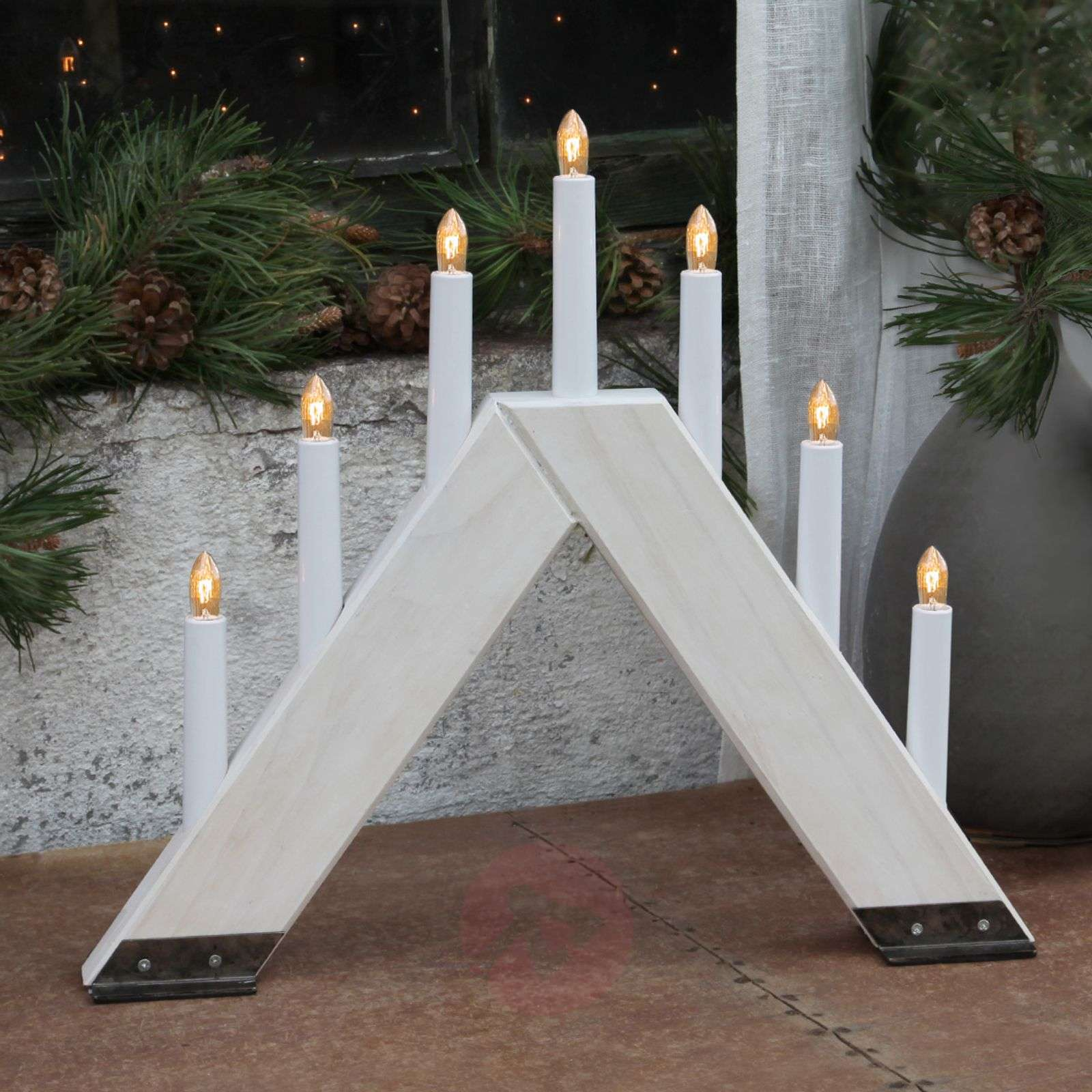 contemporary candleholder Viking white-1522557-01
