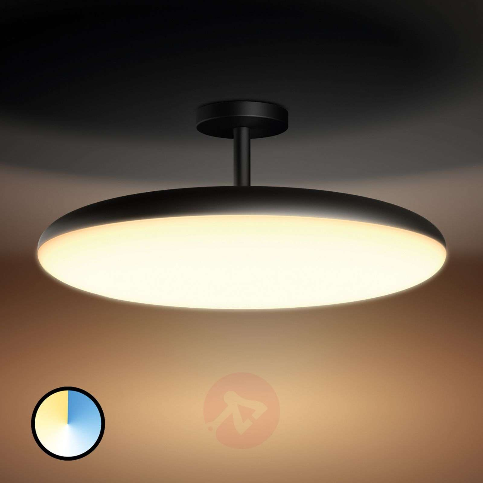 controllable philips hue led ceiling lamp cher. Black Bedroom Furniture Sets. Home Design Ideas