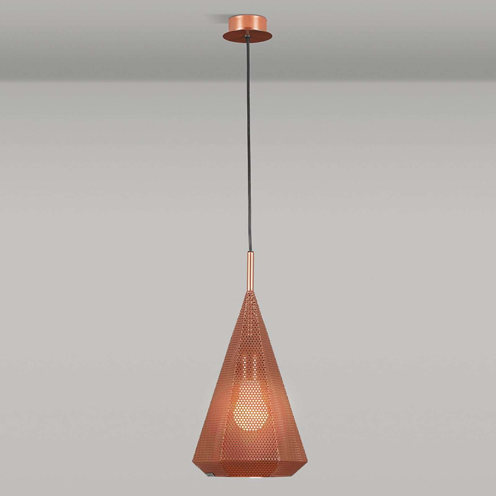 copper pendant lighting. Copper Pendant Light Priamo, Sheet Steel Lampshade-4011737-01 Lighting