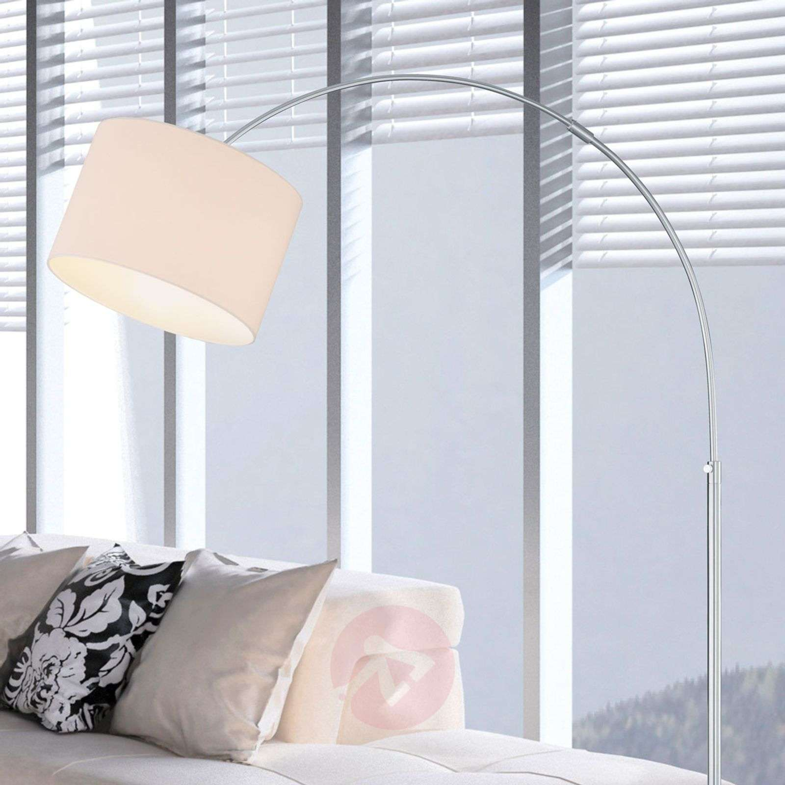 Curved Floor Lamp Risa With Fabric Lampshade 9004556 01 ...