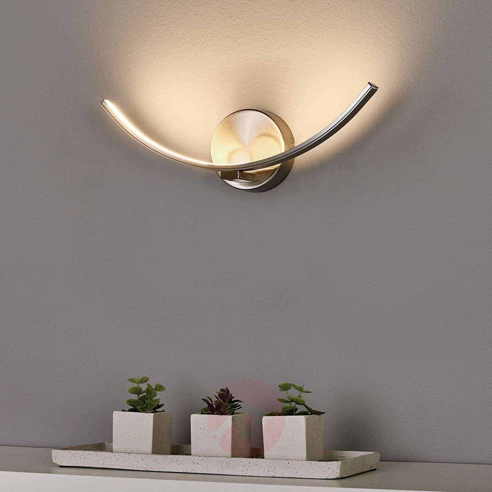 Curved Led Wall Lamp Iven Lights Co Uk