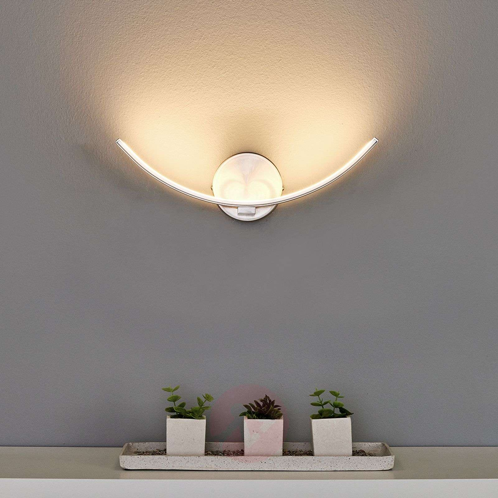 Led Wall Lights Indoor Uk: Curved LED Wall Lamp Iven