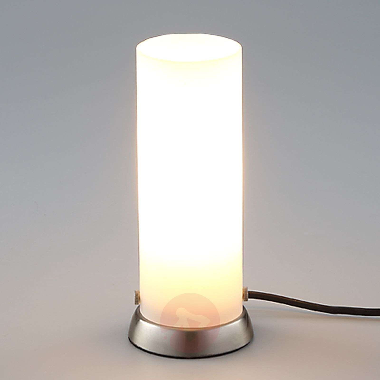Cylindrical Led Table Lamp Andrew Made Of Glass Lights