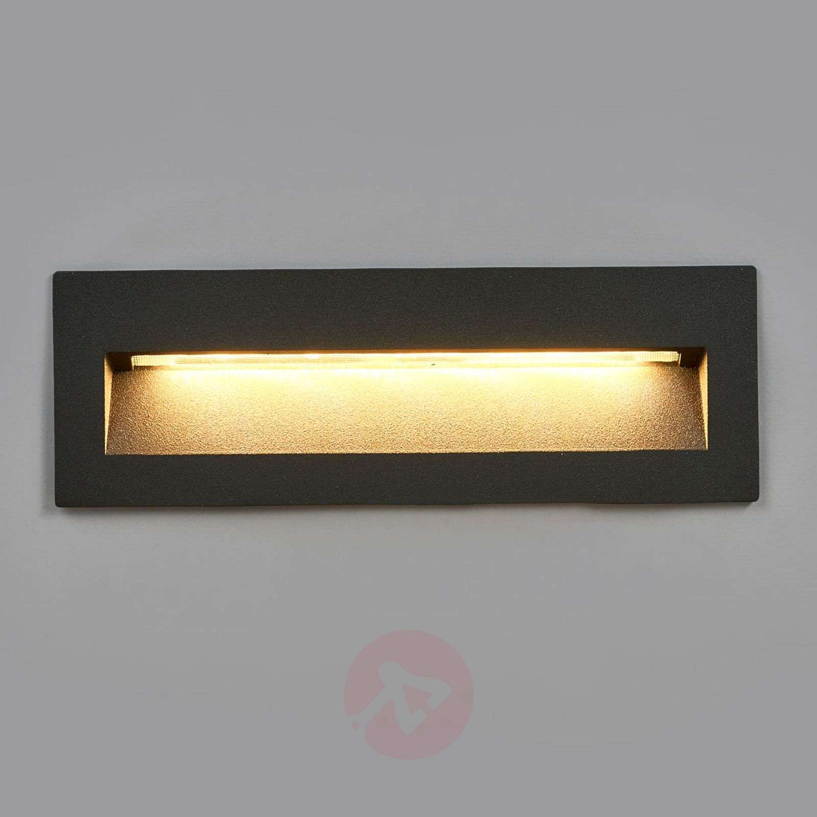 Dark LED Recessed Light Loya For Outdoor Walls