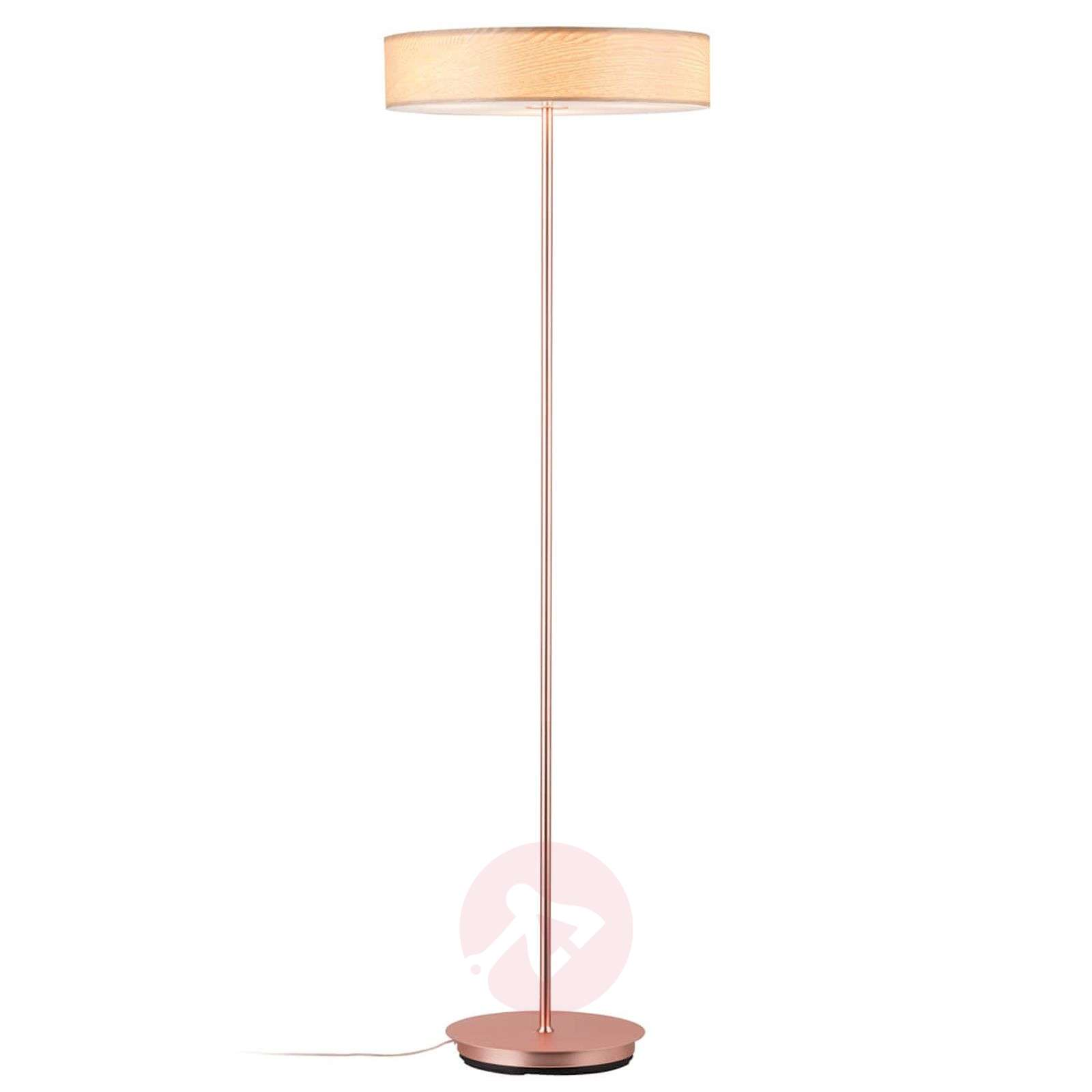 Decorative floor lamp liska with wooden lampshade lights mozeypictures Images