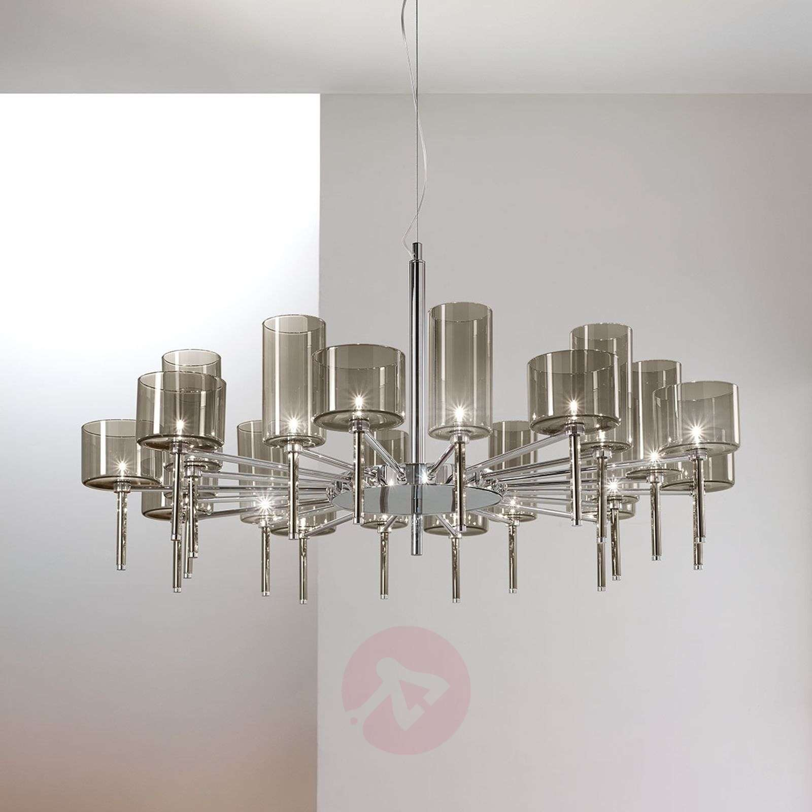 Designer chandelier Spillray with glass shades-1088049-01