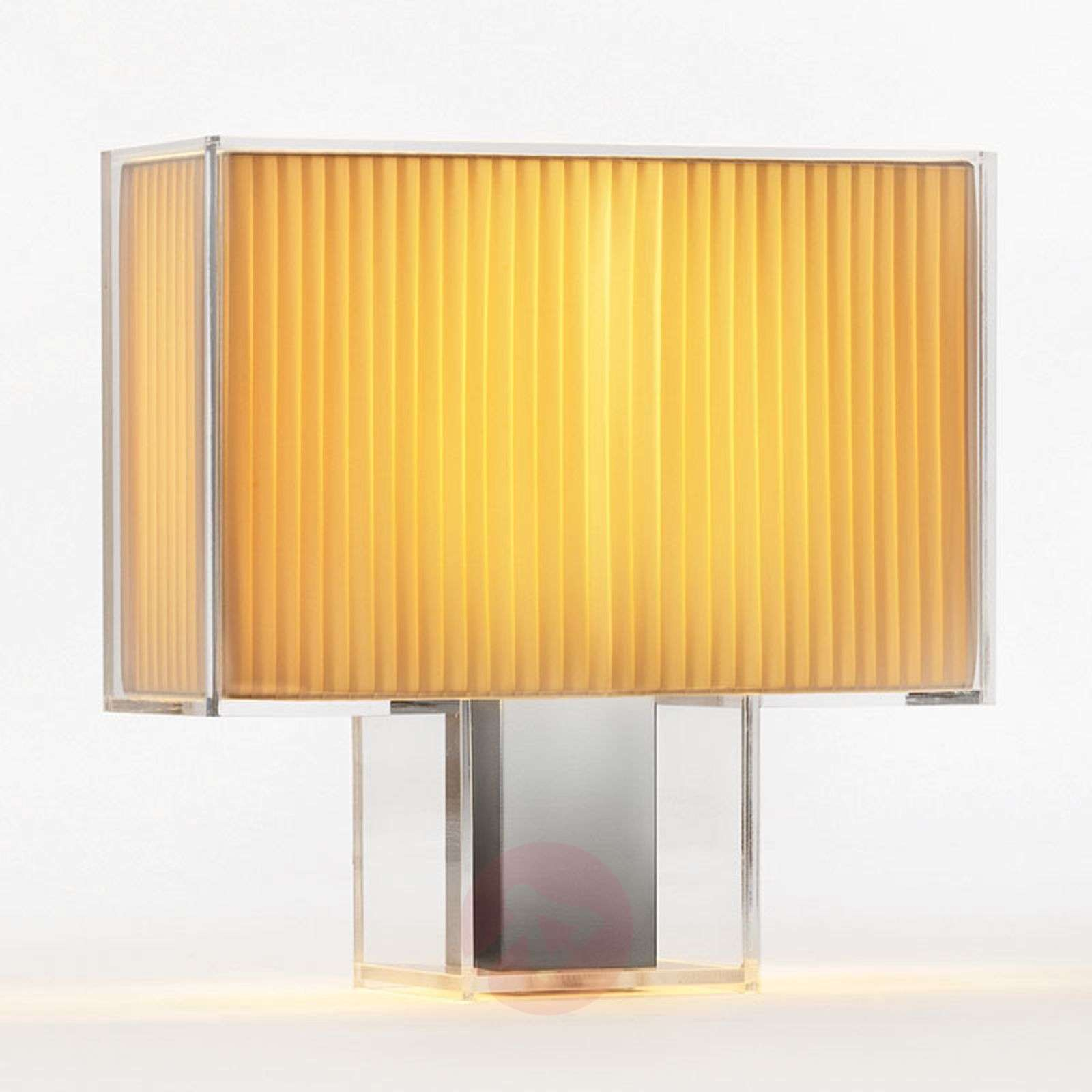 Designer Table Lamp Tat 236 With Pleated Lampshade Lights