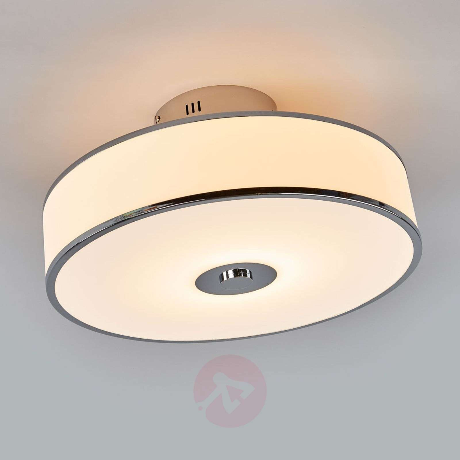 Dimmable LED Ceiling Lamp Lounge In White/chrome 8507921 02 ...