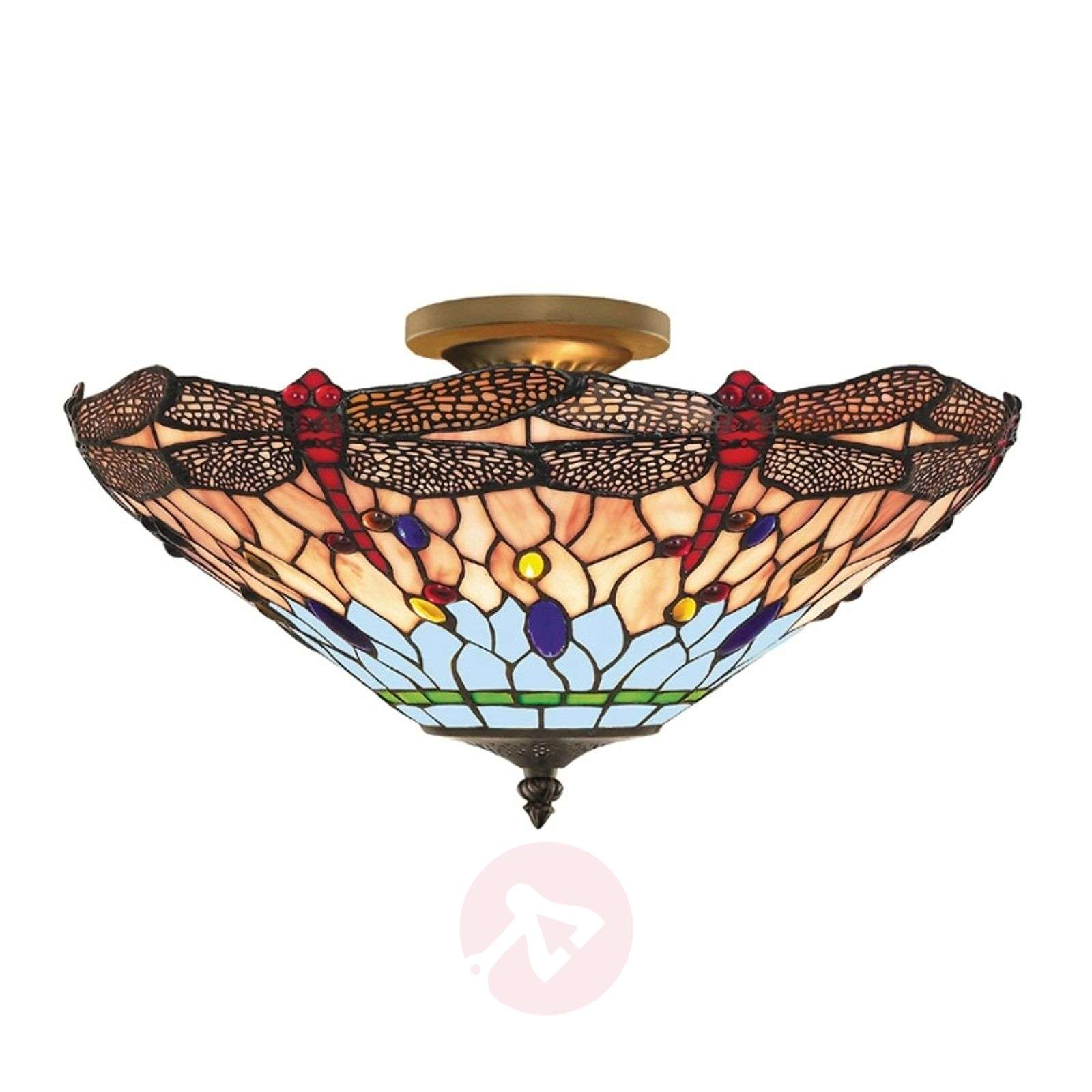 Dragonfly Tiffany Style Ceiling Light Lights Co Uk