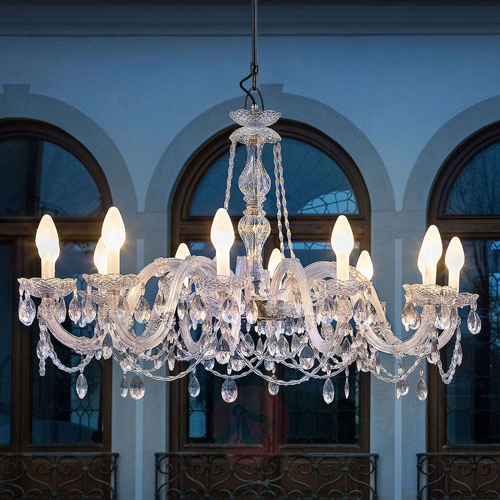 Outdoor Lighting Company: Drylight S12 12-bulb Outdoor LED Chandelier
