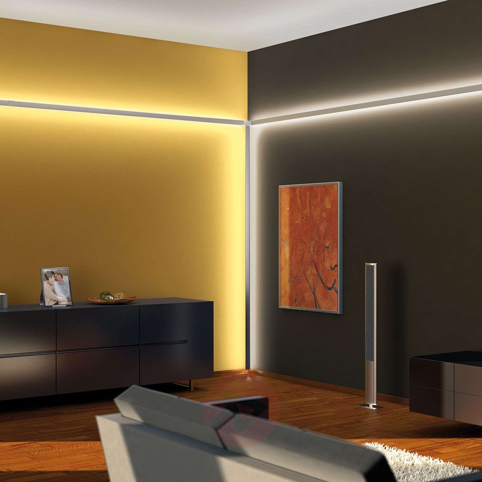 duo duo profile rail for led strip system. Black Bedroom Furniture Sets. Home Design Ideas