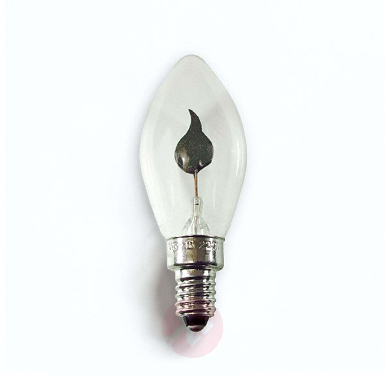 e10 1 5w 230v bulbs pack of 2 flickering candle. Black Bedroom Furniture Sets. Home Design Ideas
