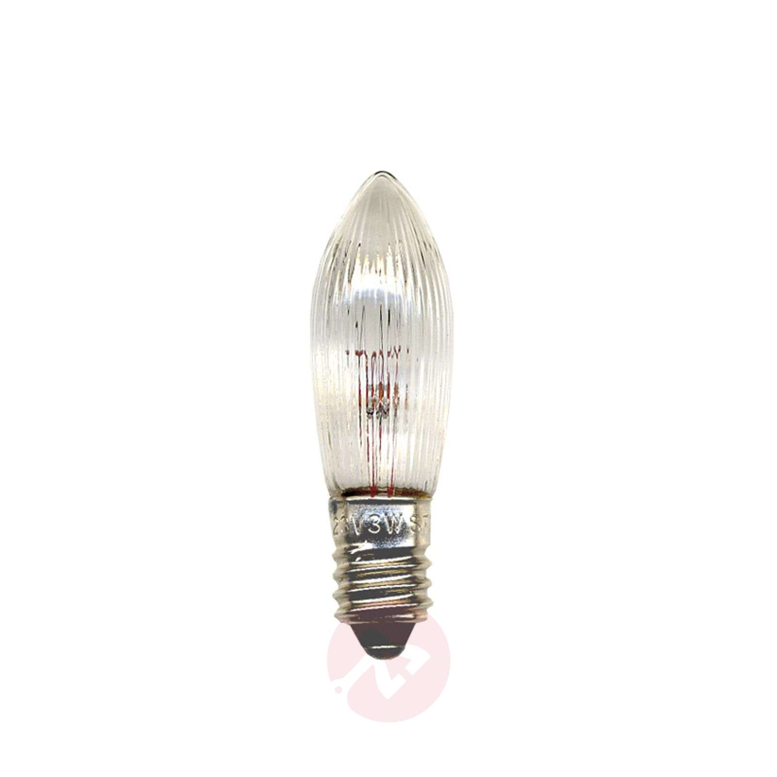 E10 2.4 W 12 V bulb, pack of 3, candle shape-1522322-01