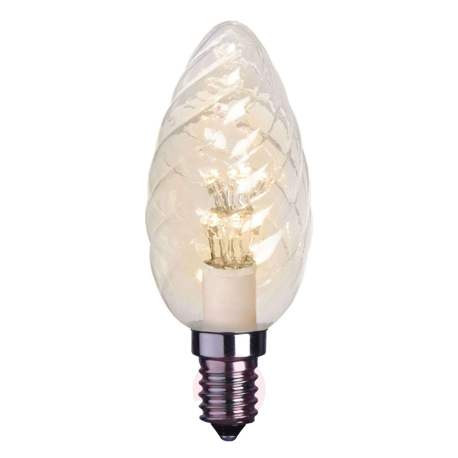 E14 0.9 W clear LED candle bulb twisted-1522106X-01
