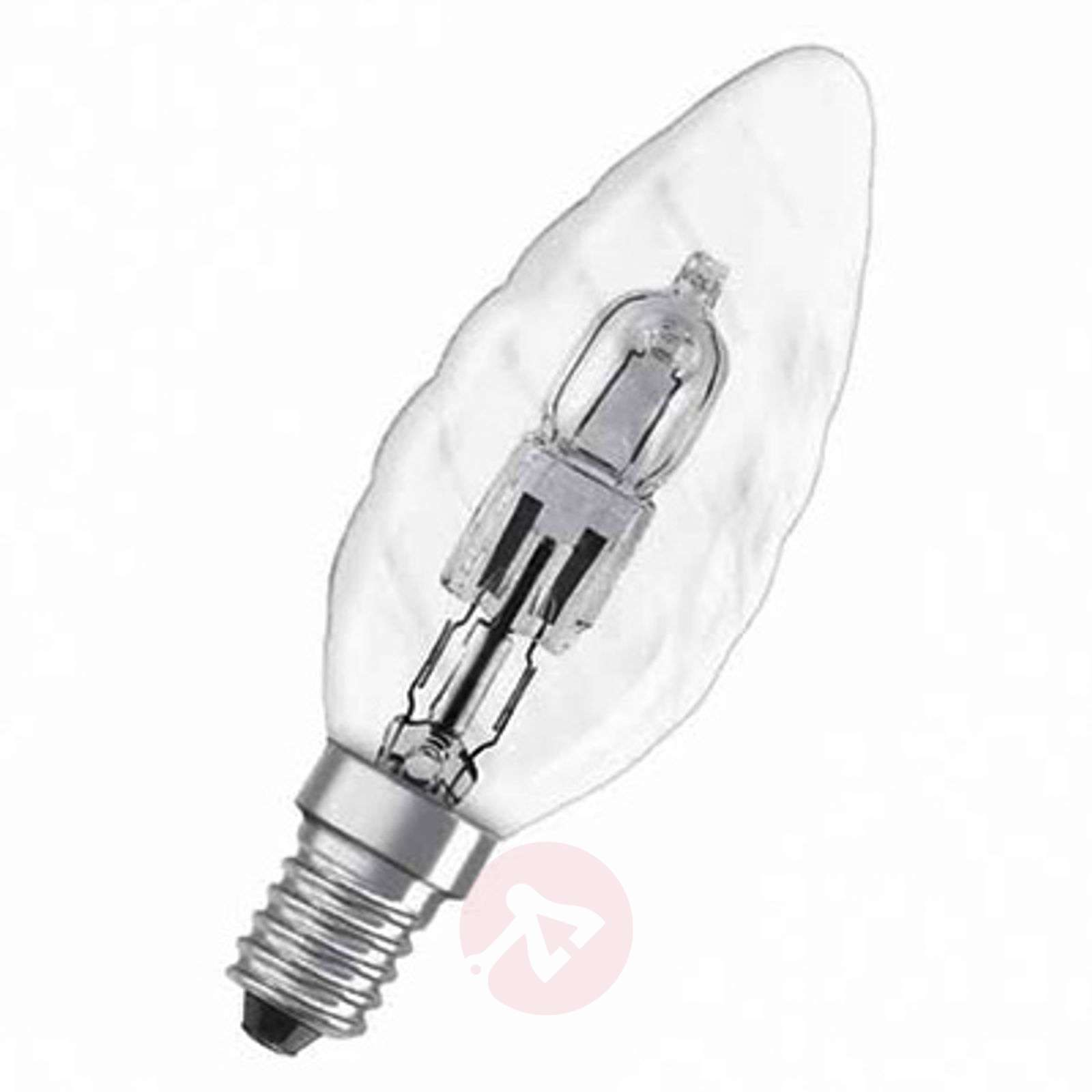 E W halogen bulb Classic BW candle twisted