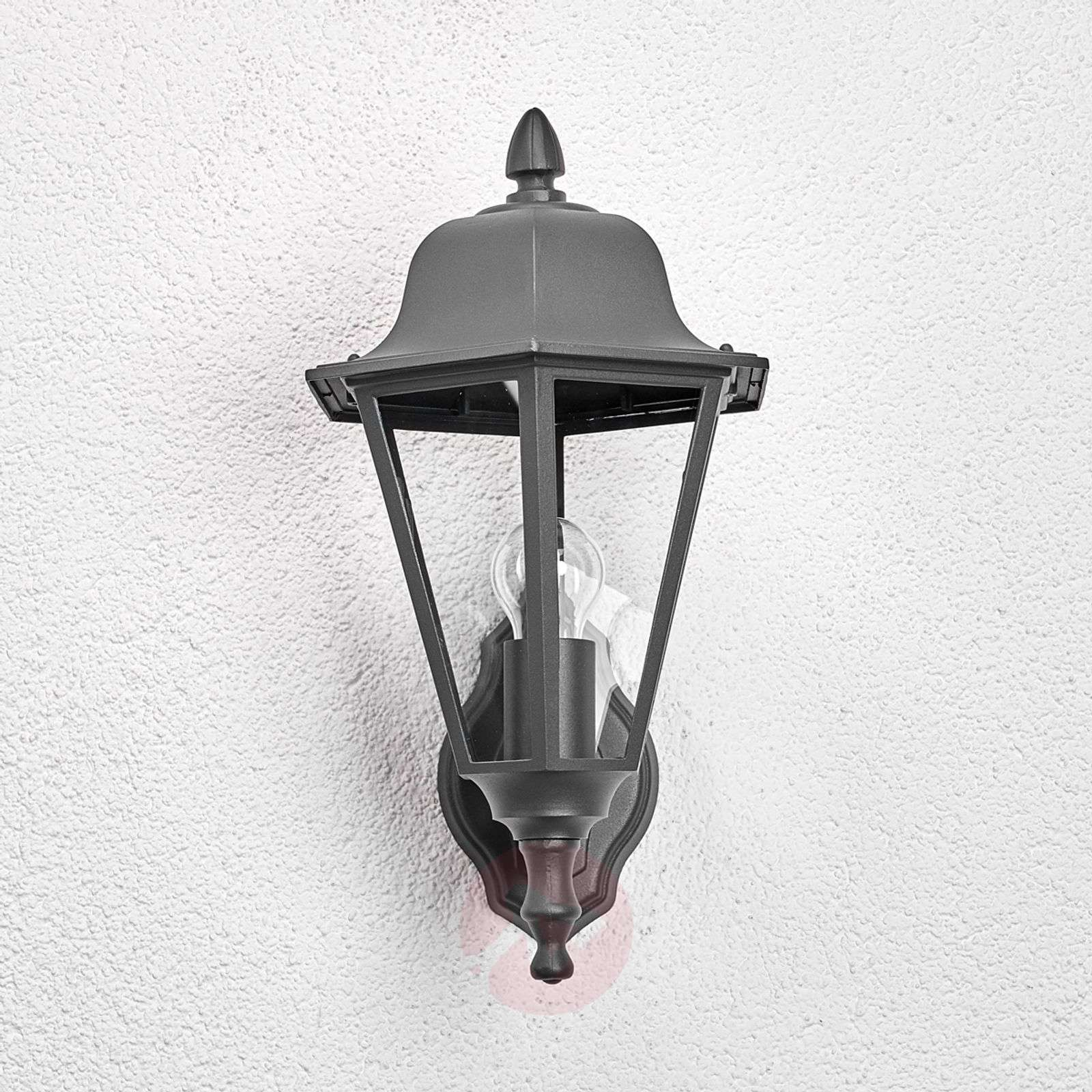 Outside Wall Lights Grey : Edana - outdoor wall light in graphite grey Lights.co.uk