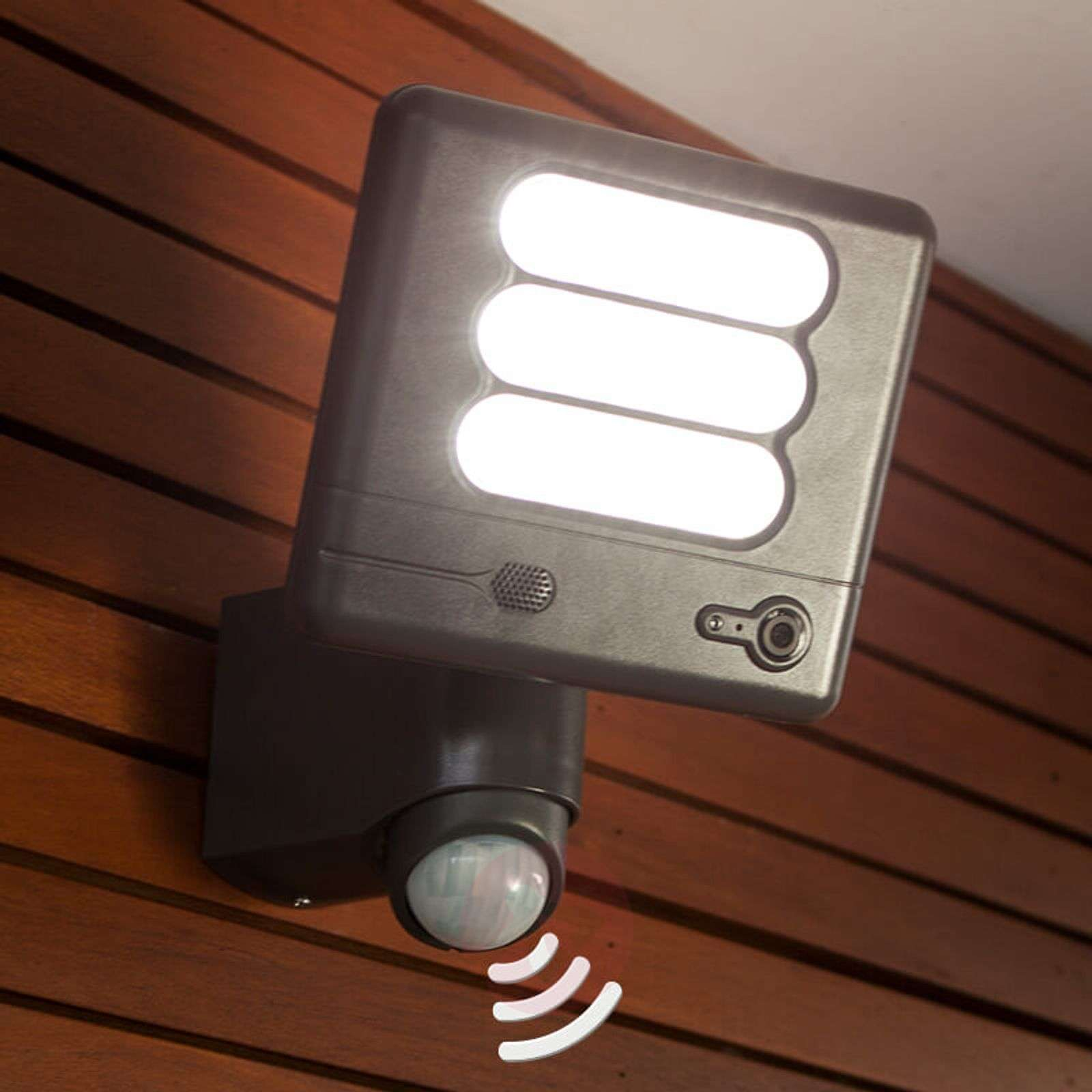 Esa Cam - LED wall light with security camera | Lights.co.uk