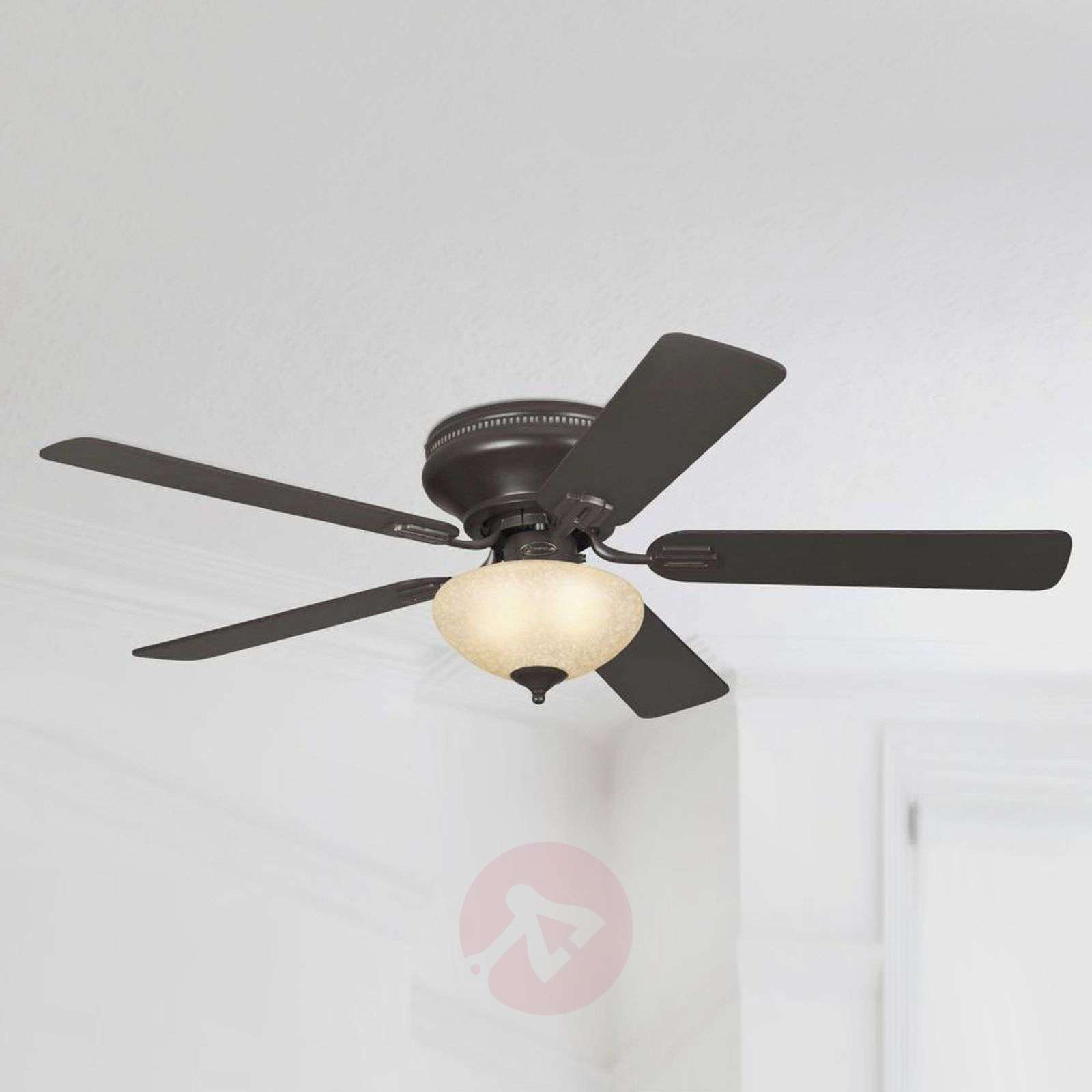 Everett rustic ceiling fan with light | Lights.co.uk